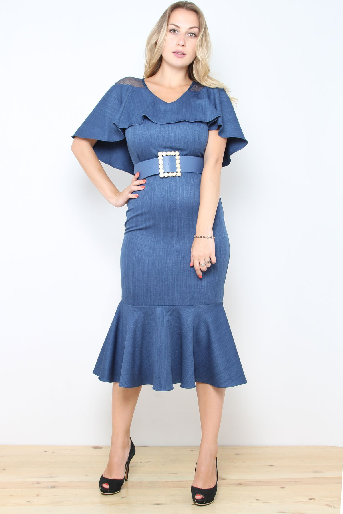 Day Dresses Medium-Indigo