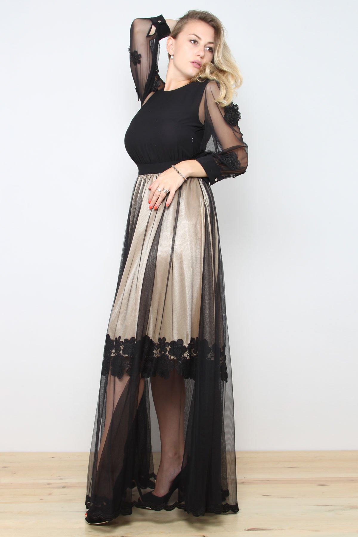 Day Dresses Long-Beige
