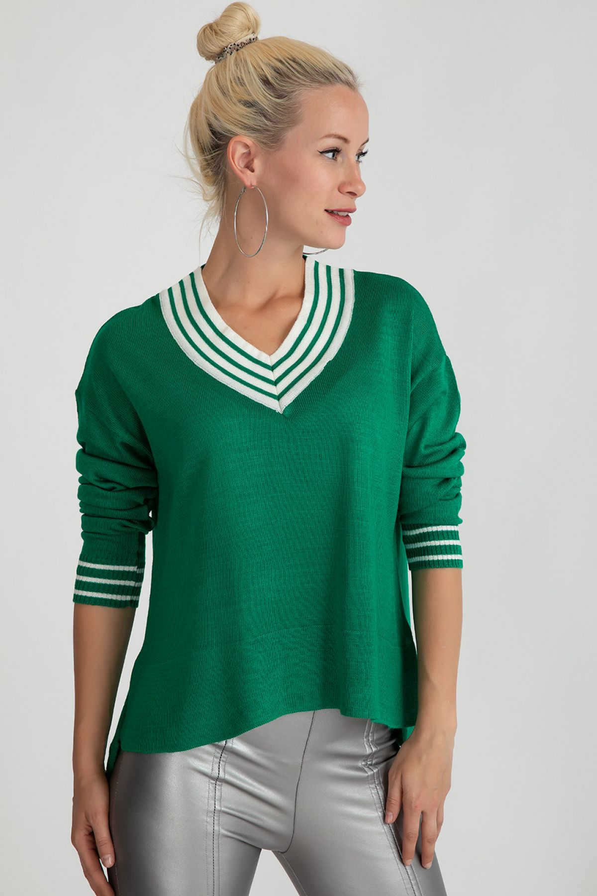 Sweaters-Petrol Green