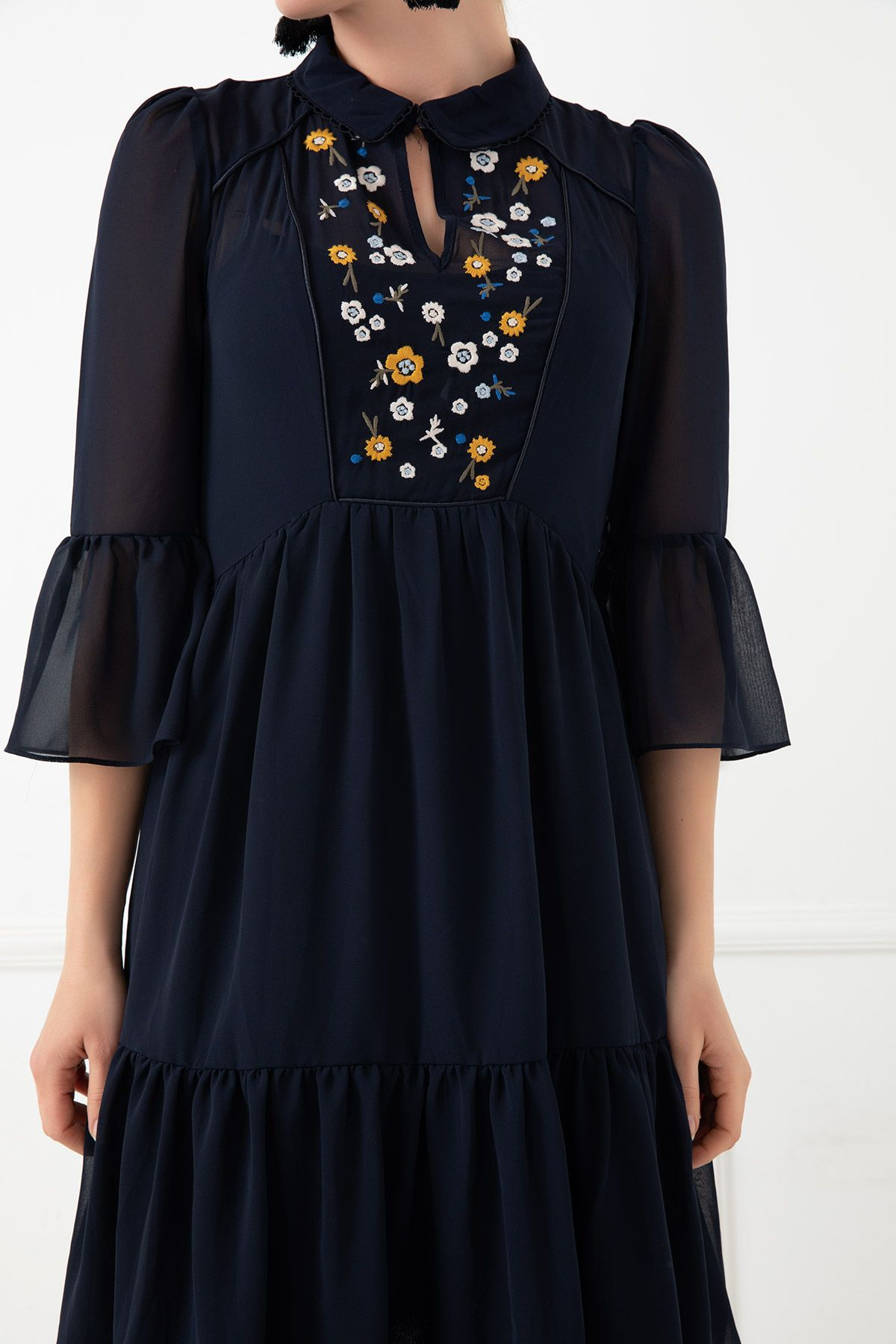 Day Dresses Short-Dark Blue