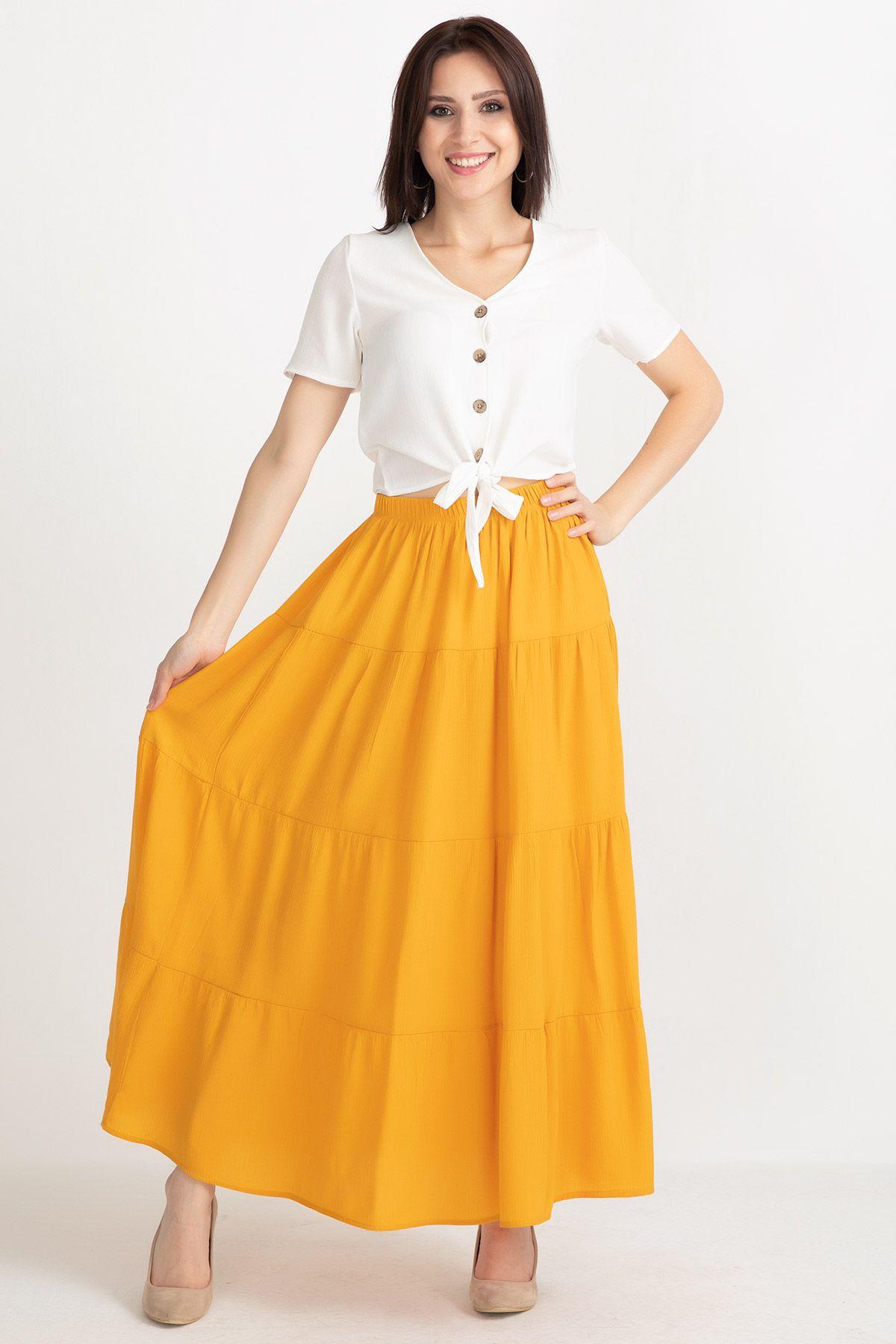 Long Skirts-Mustard