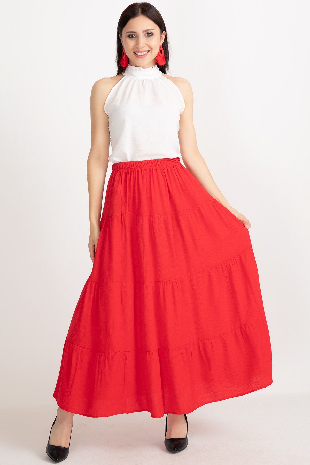 Long Skirts-Red