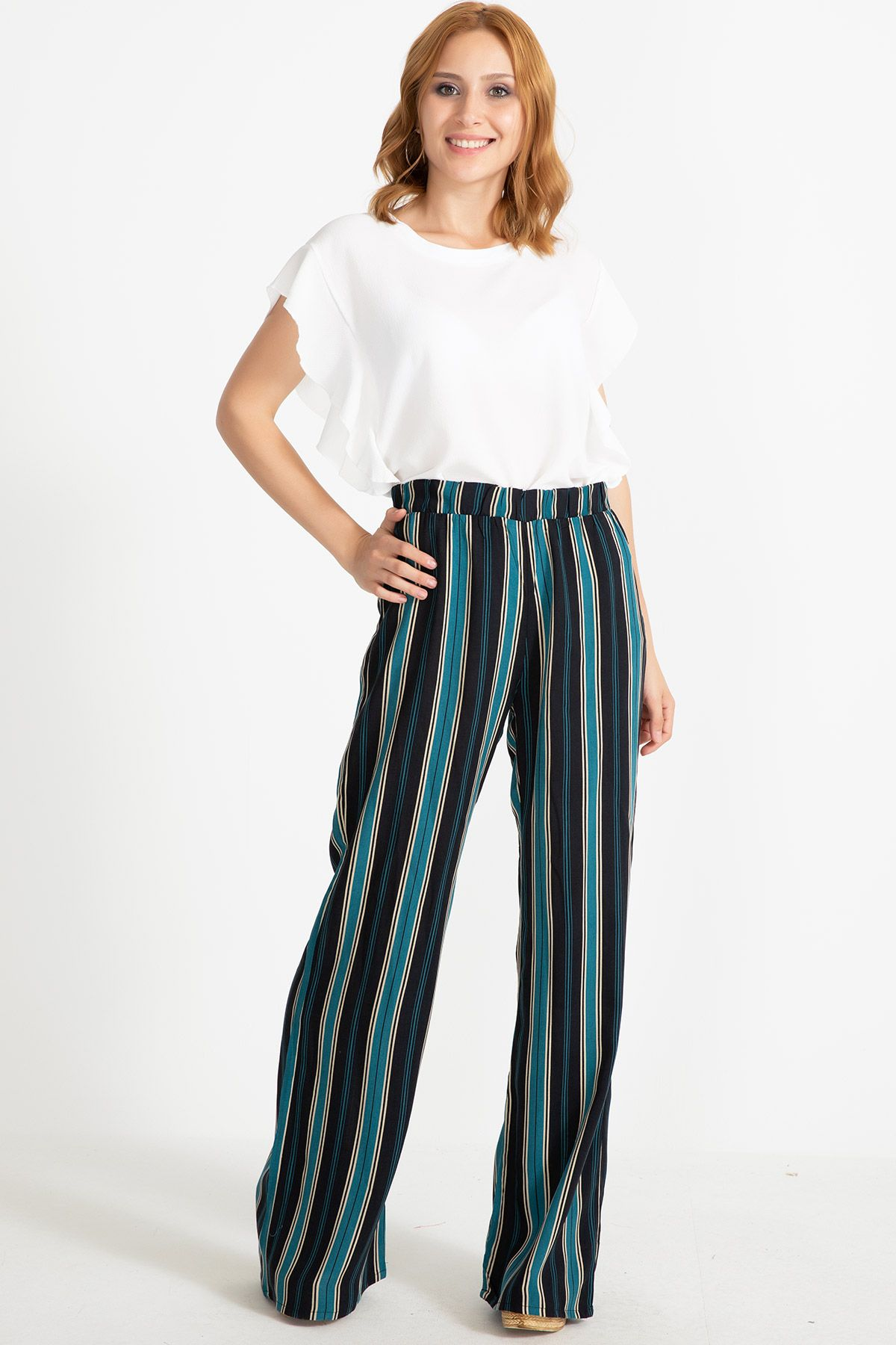 Boot Cut Pants-Multi color