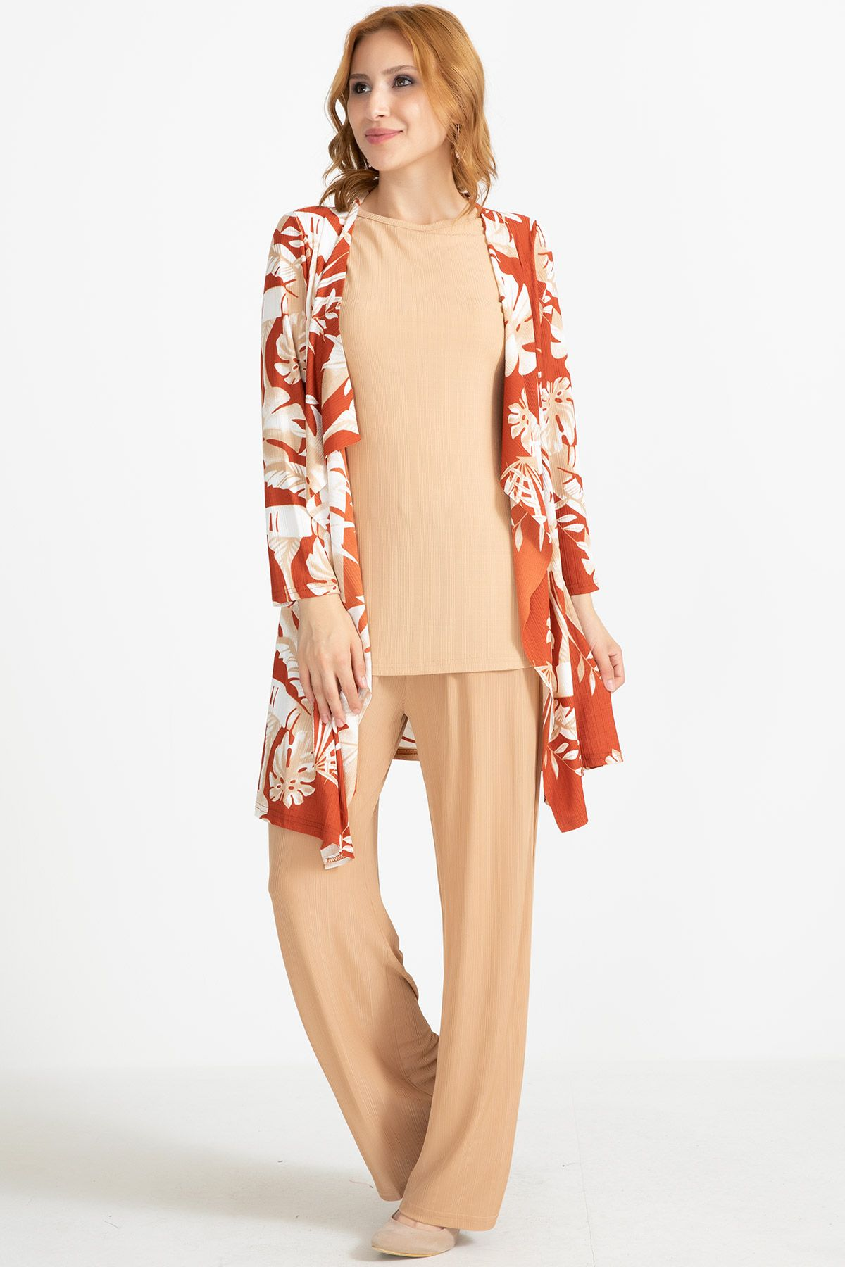 Jacket & Pants & Blouse-Orange