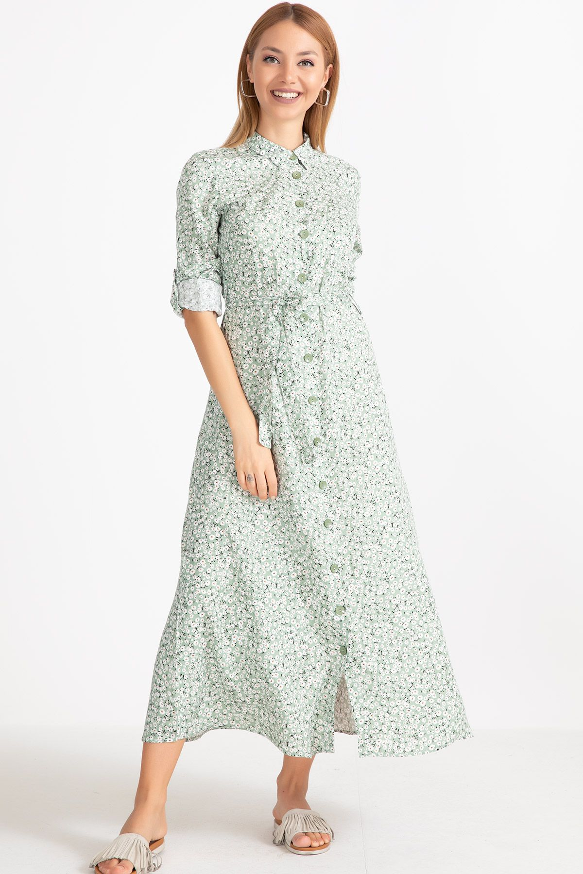 Day Dresses Long-Green