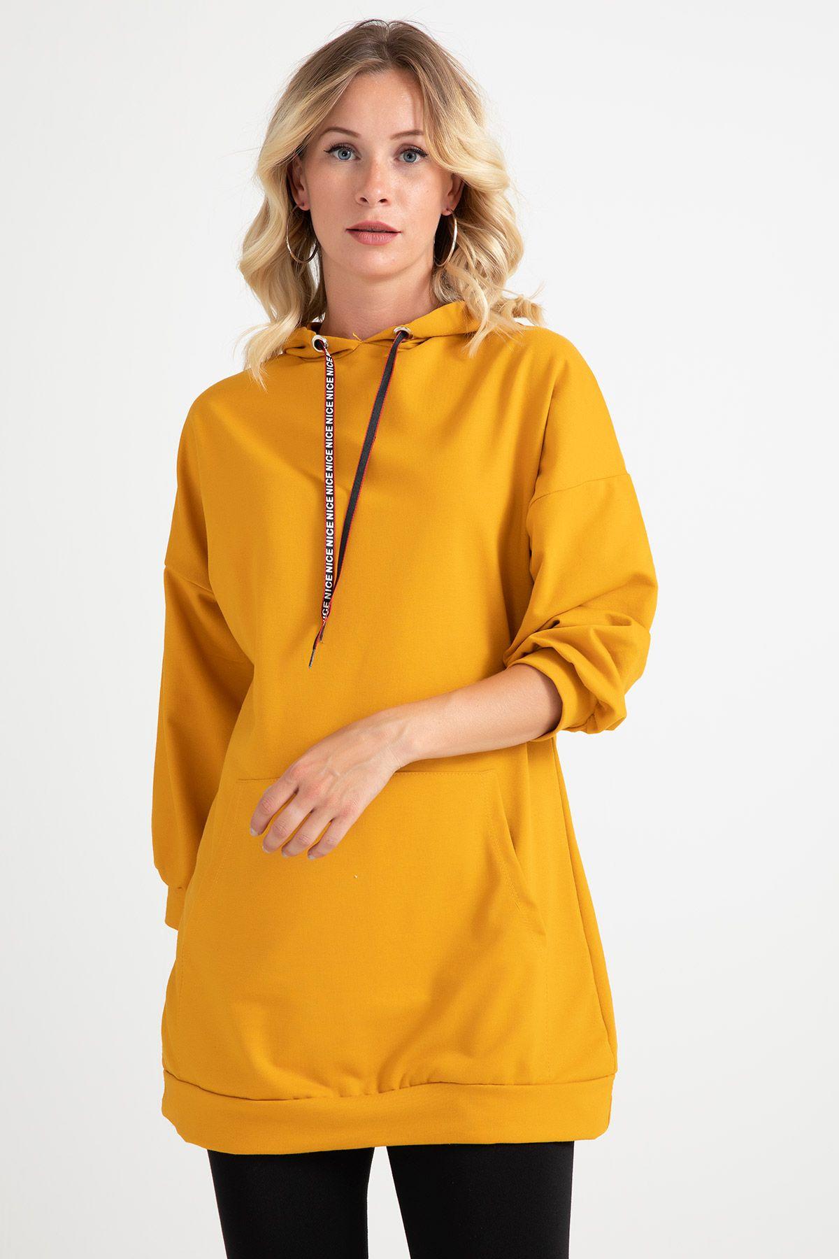 Knitwear - Tunic -Mustard