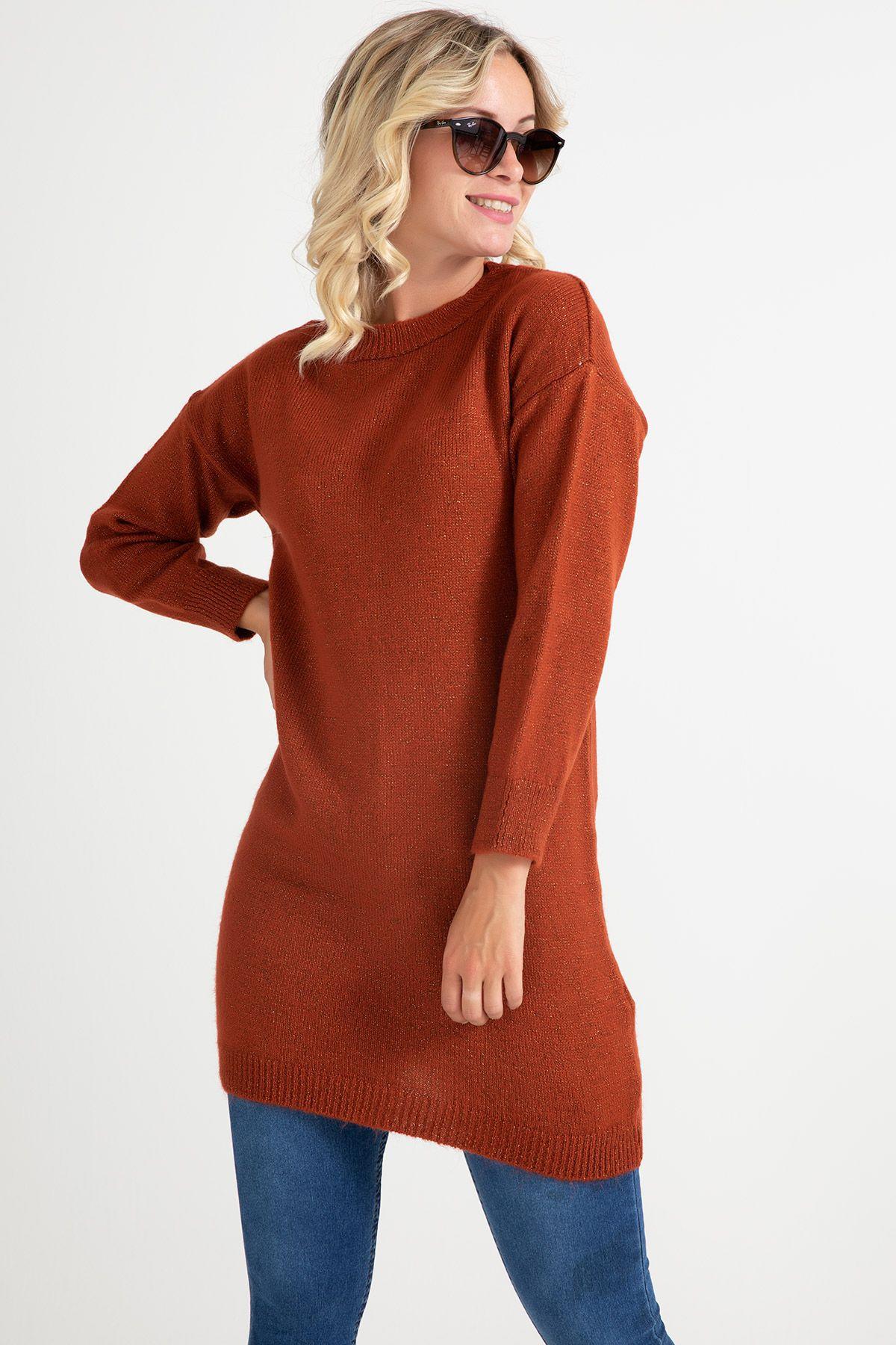 Knitwear - Tunic -Terracotta