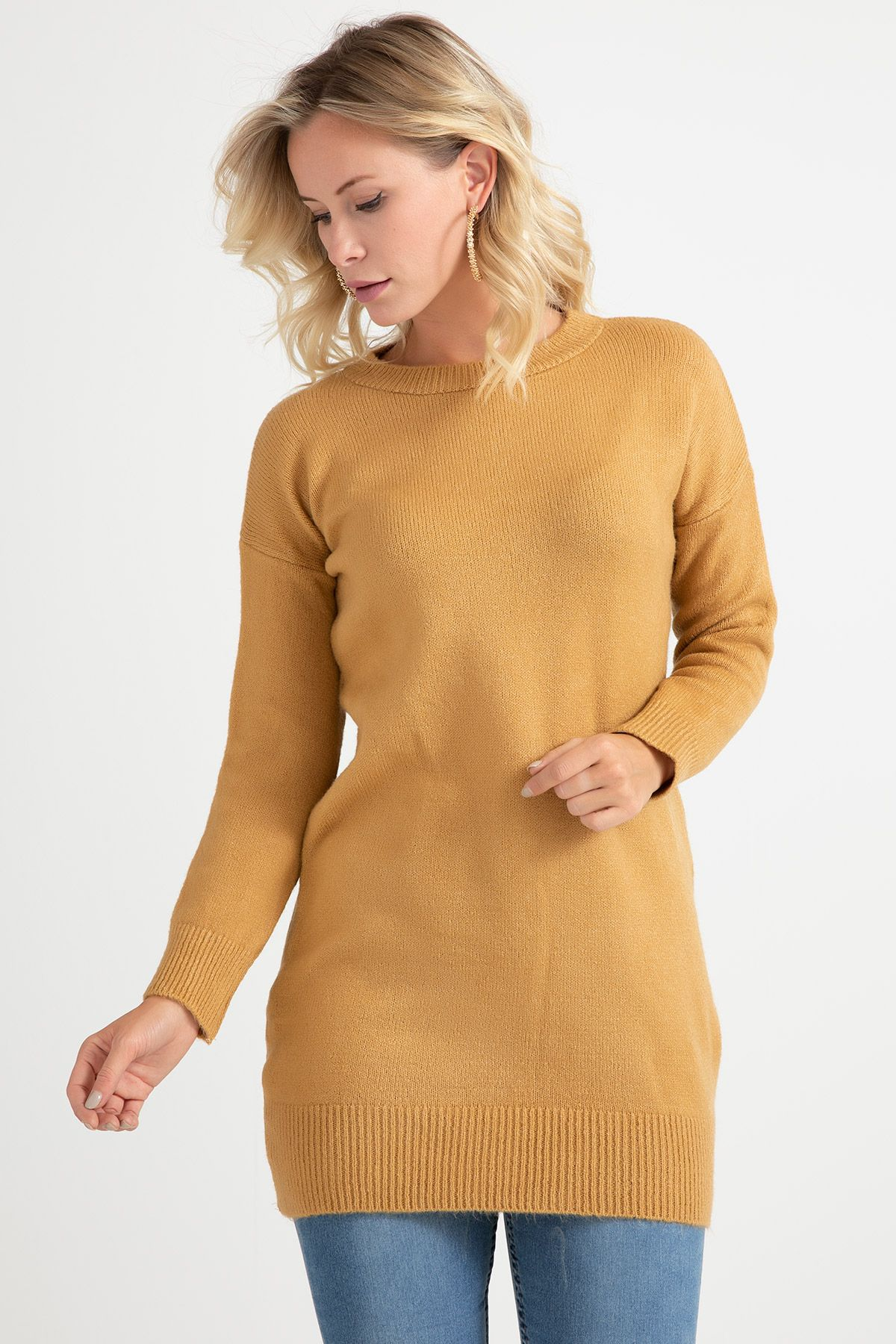 Knitwear - Tunic -Beige
