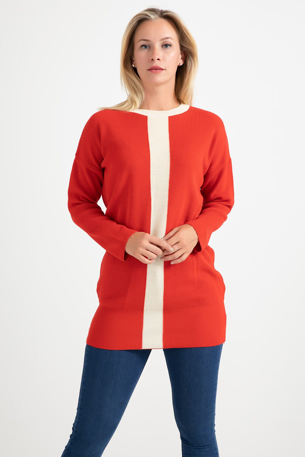 Knitwear - Tunic -Orange