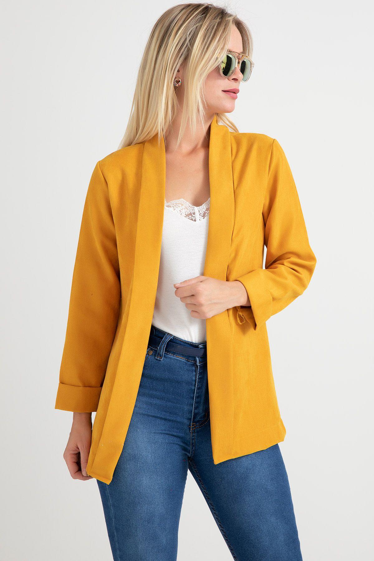Casual Jacket-Mustard