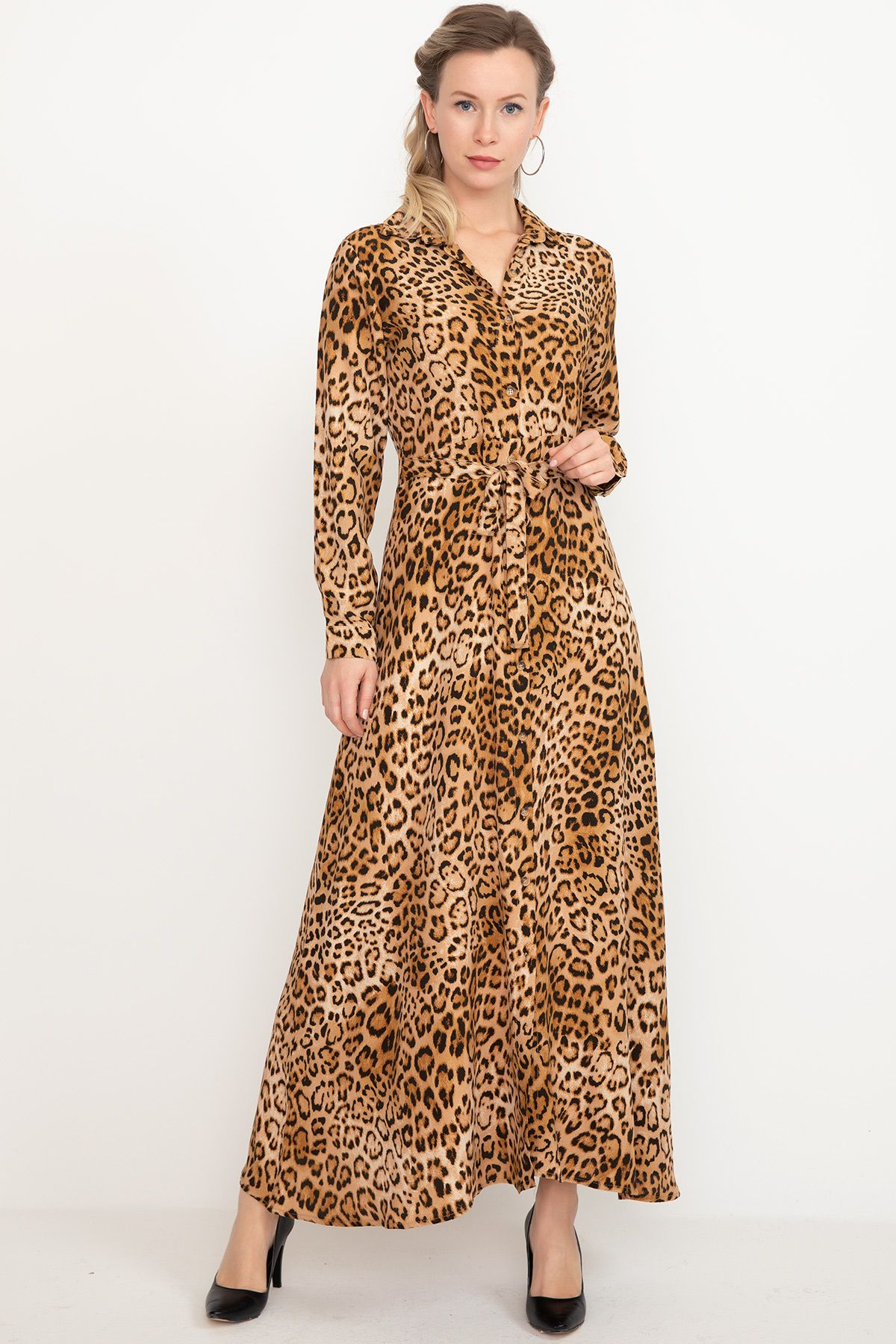 Day Dresses Long-Brown
