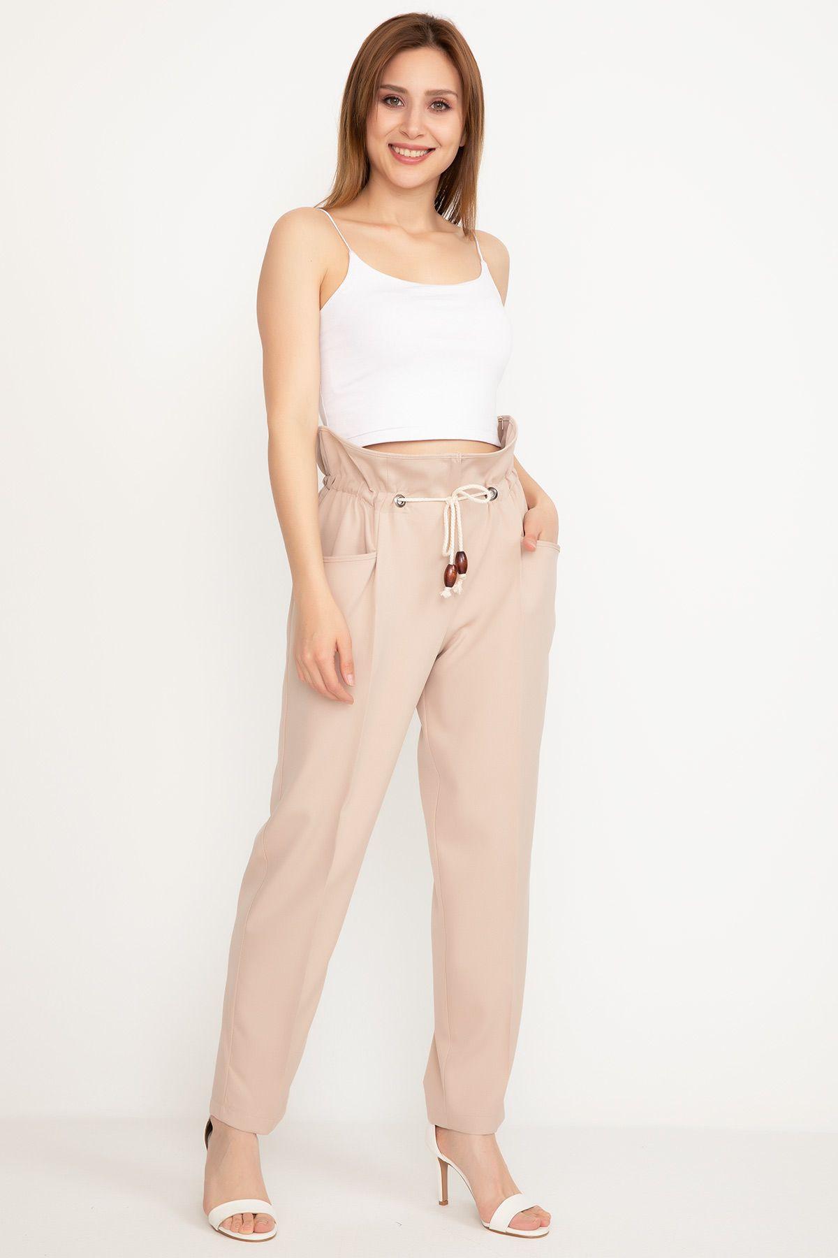 Straight Pants-powder pink