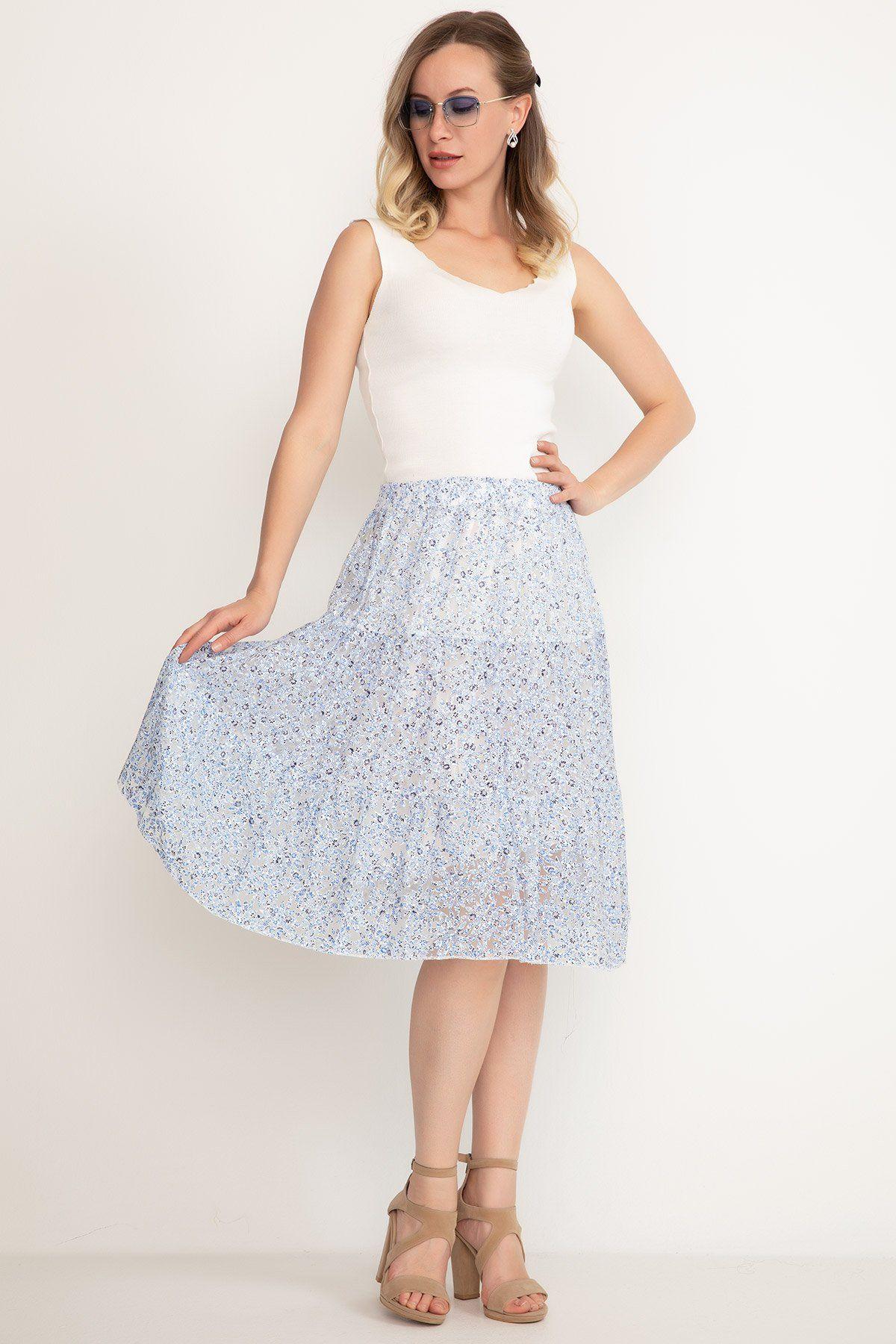 Mini Skirt-Sky Blue