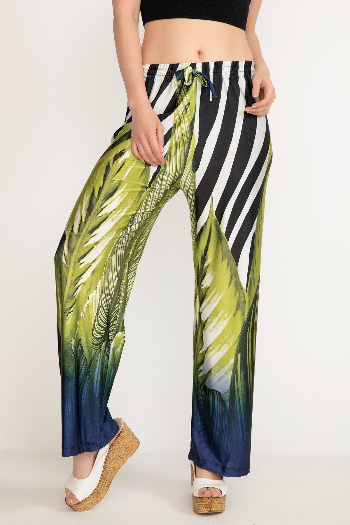 Straight Pants-Multi color