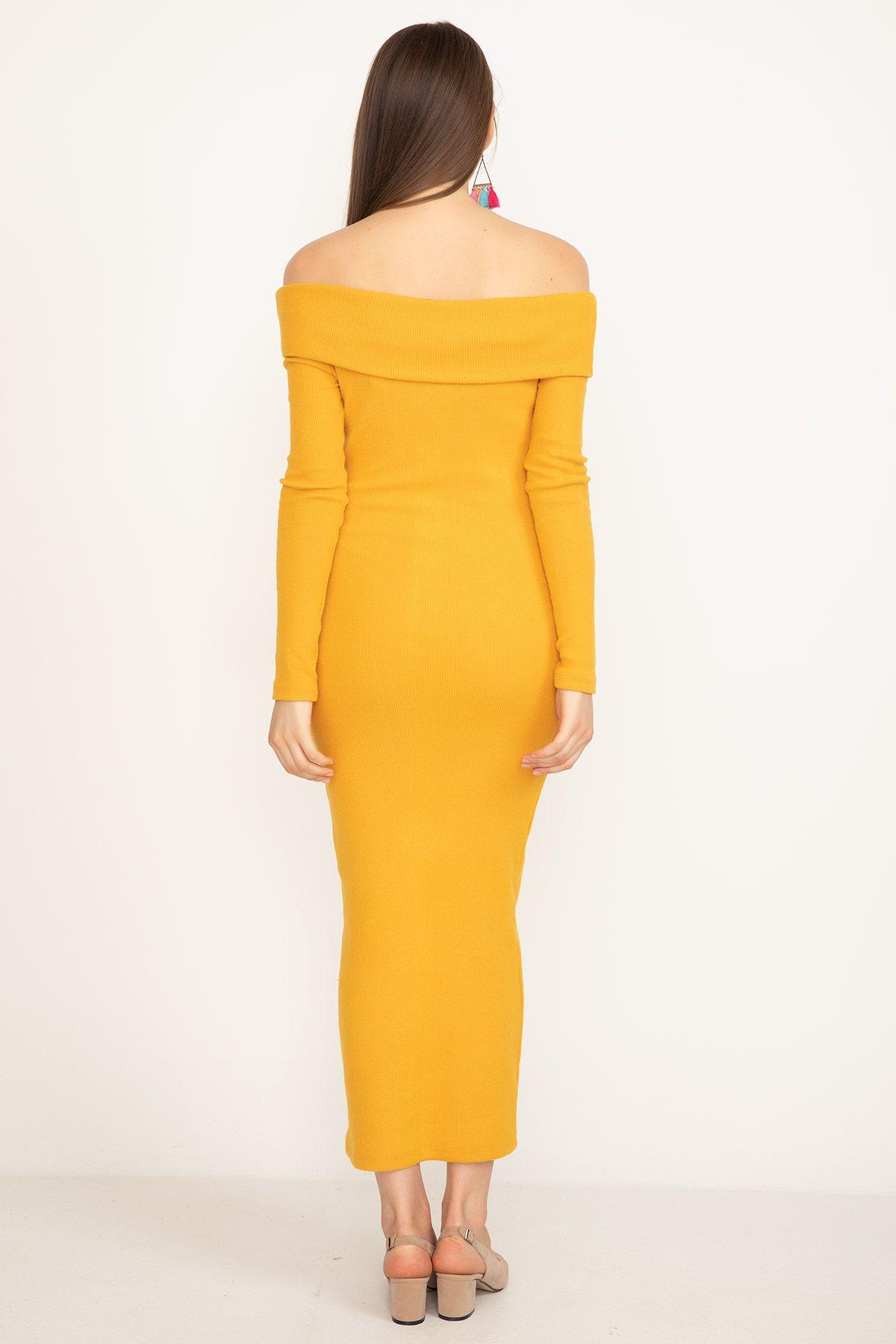 Dresses-Mustard