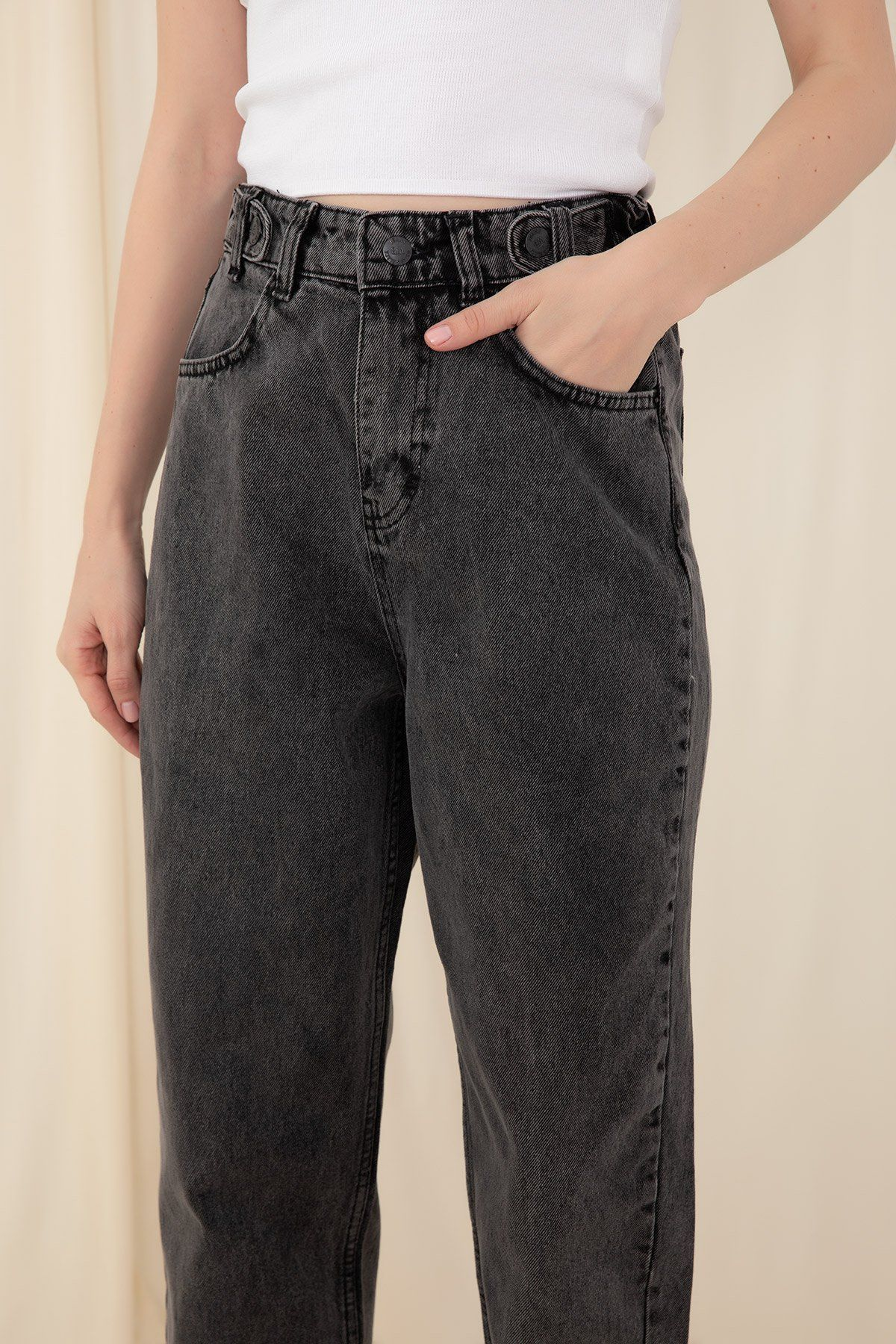Boot Cut Pants-Anthracite
