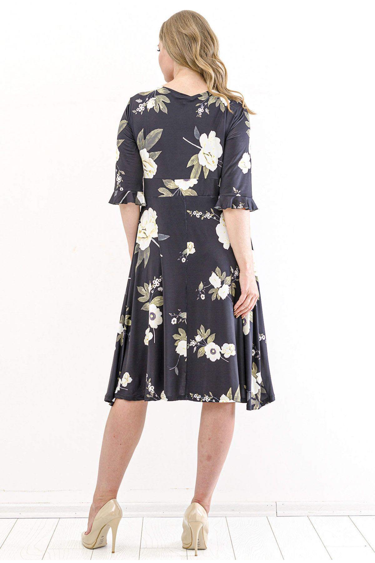 Day Dresses Short-Black