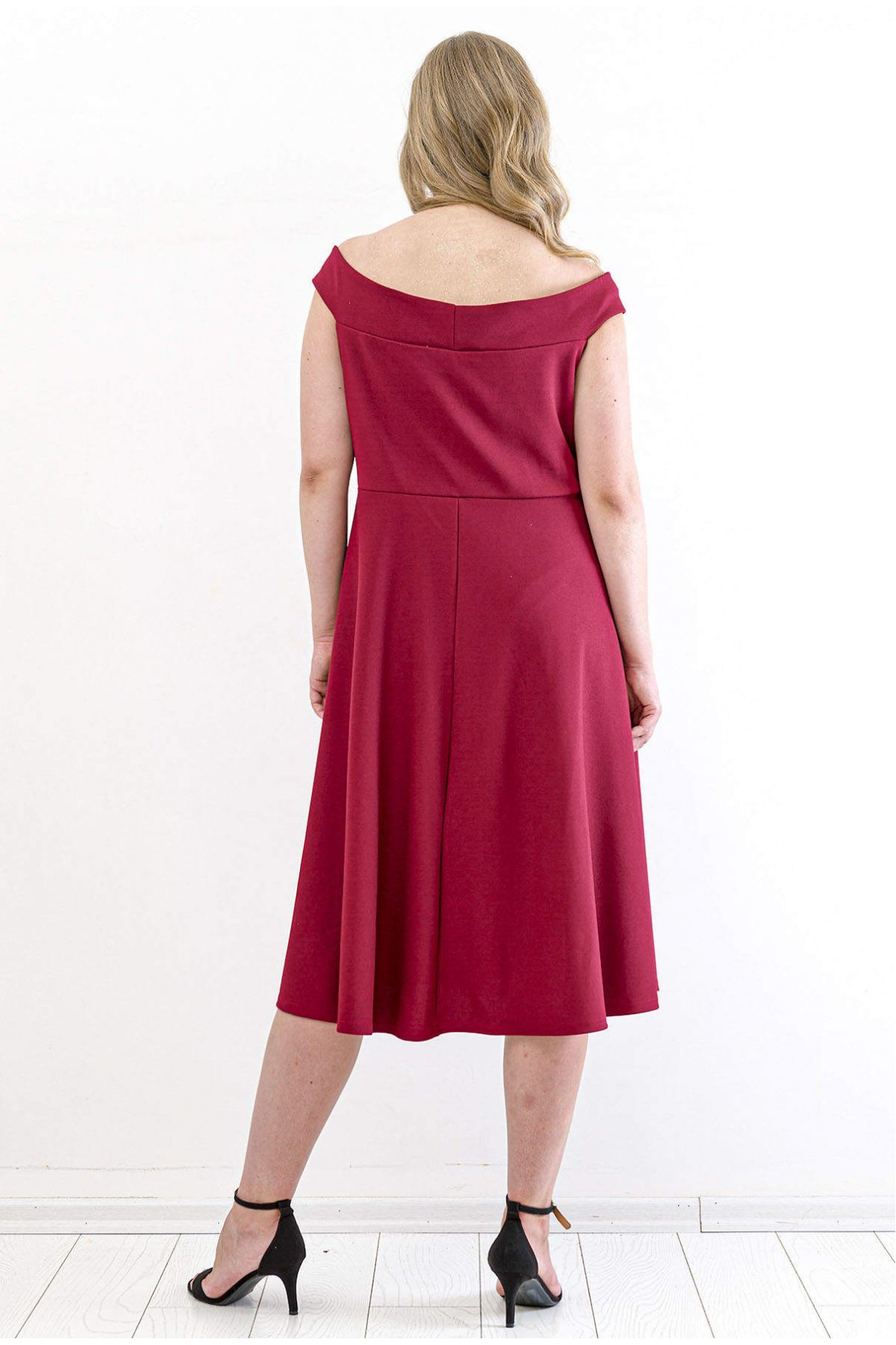 Evening Dress-Claret Red