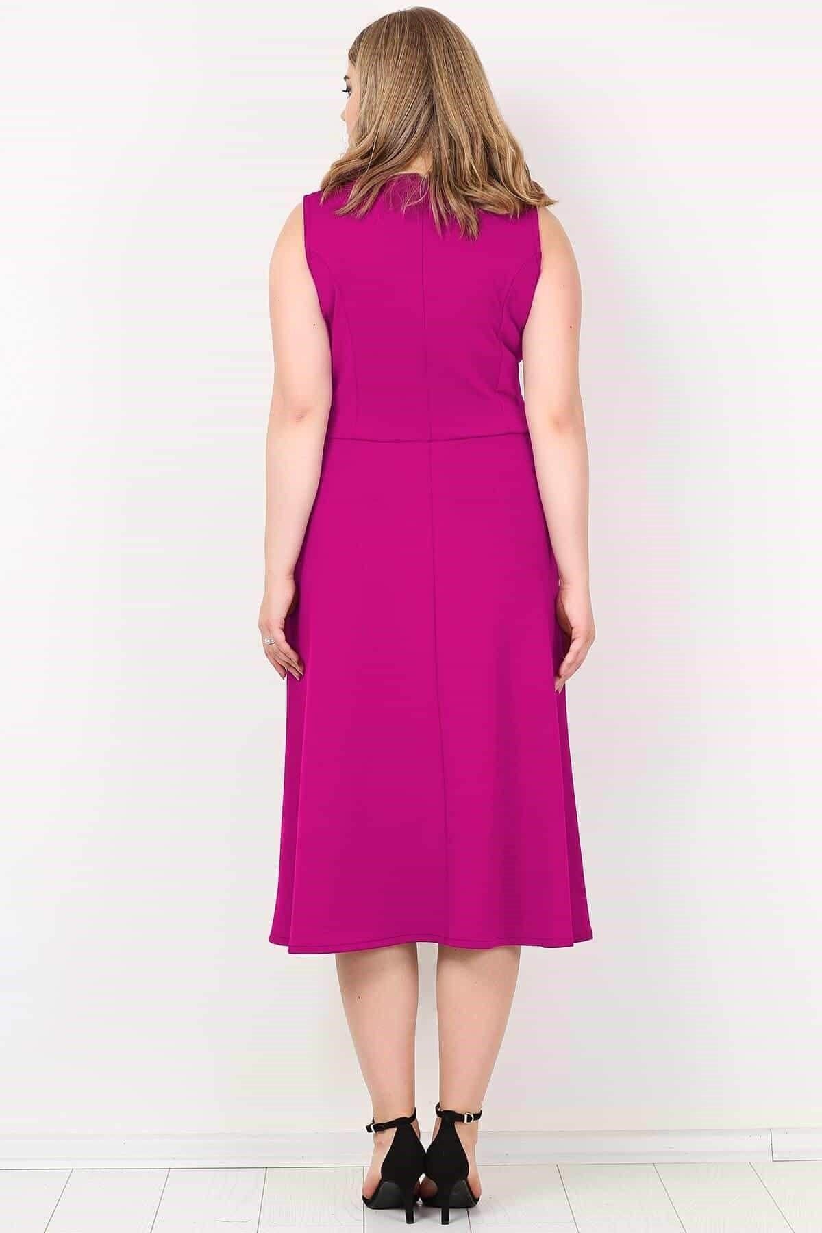 Evening Dress-Fuchsia