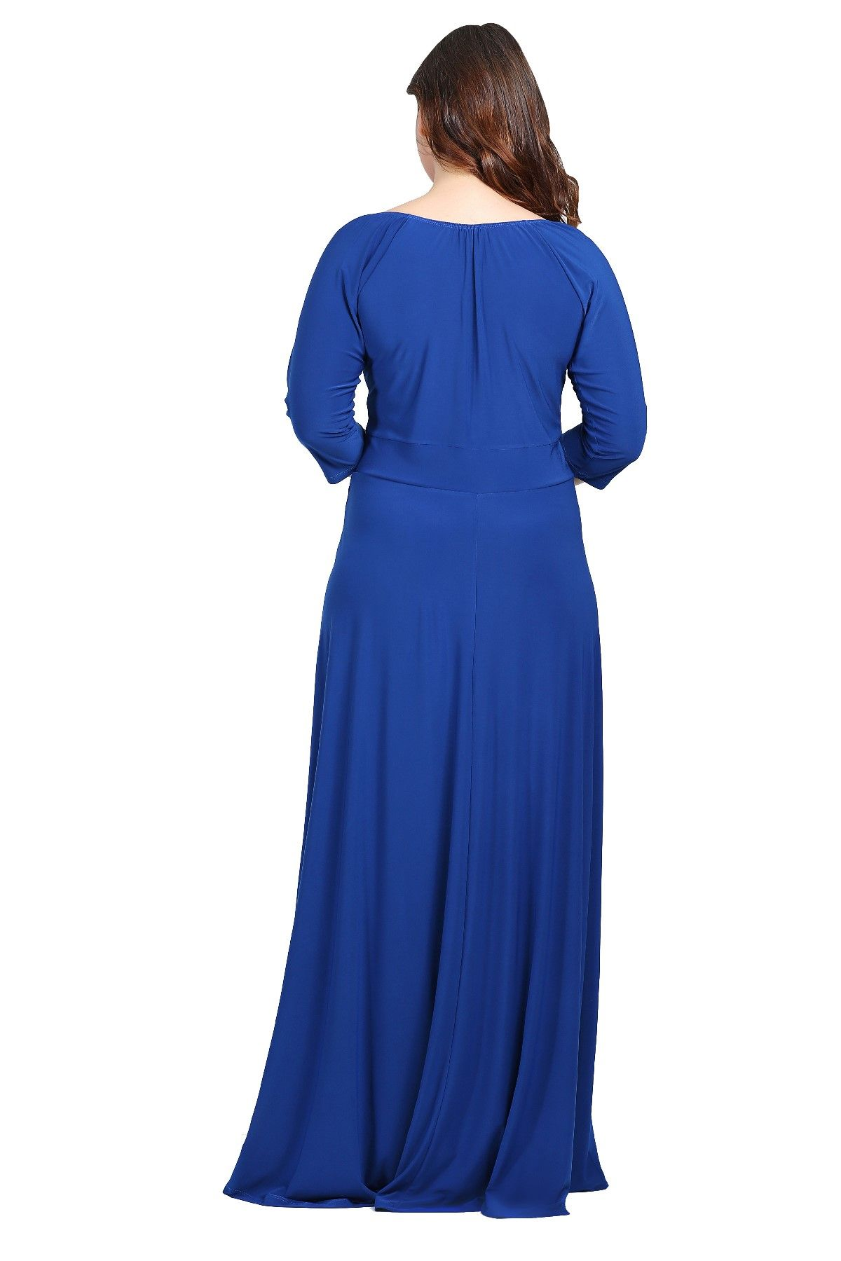 Evening Dress-Bright Blue
