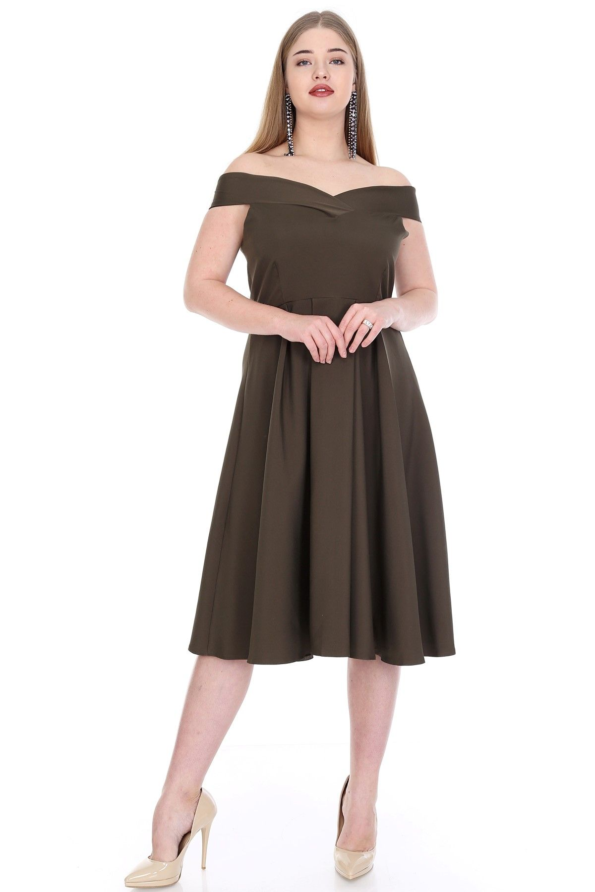 Evening Dress-Khaki