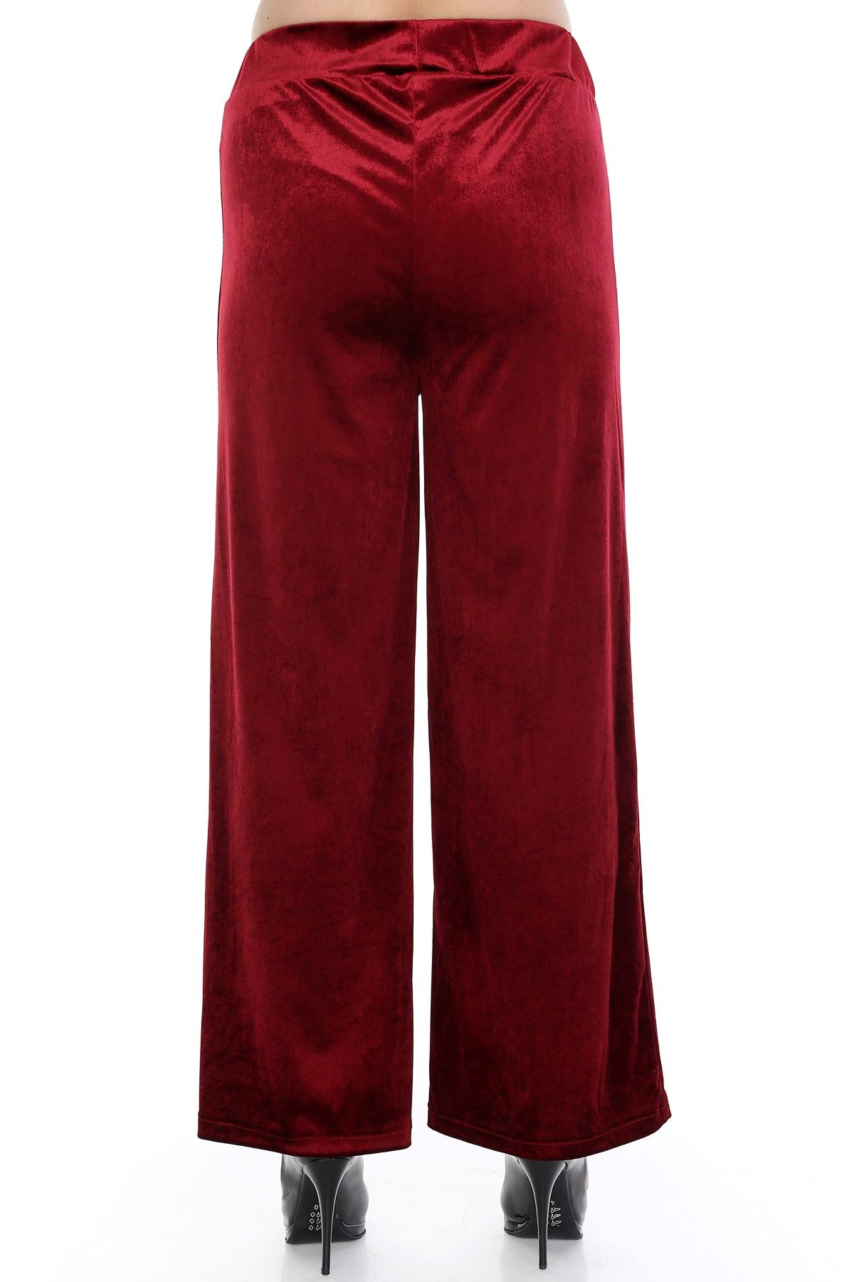 Boot Cut Pants-Red