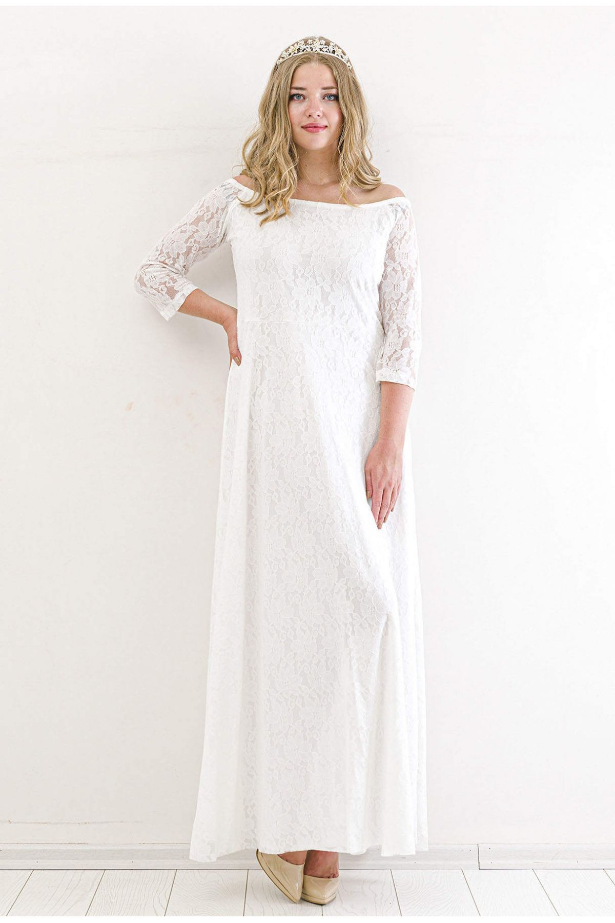 Evening Dress-White
