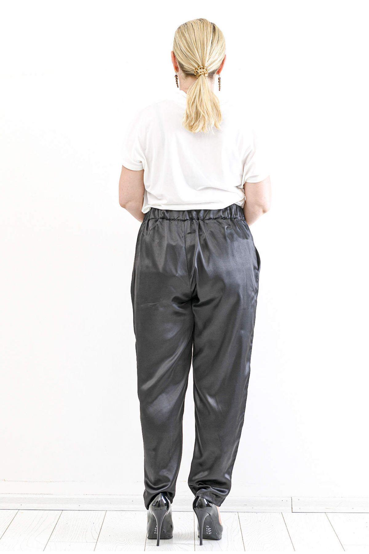 Straight Pants-Black
