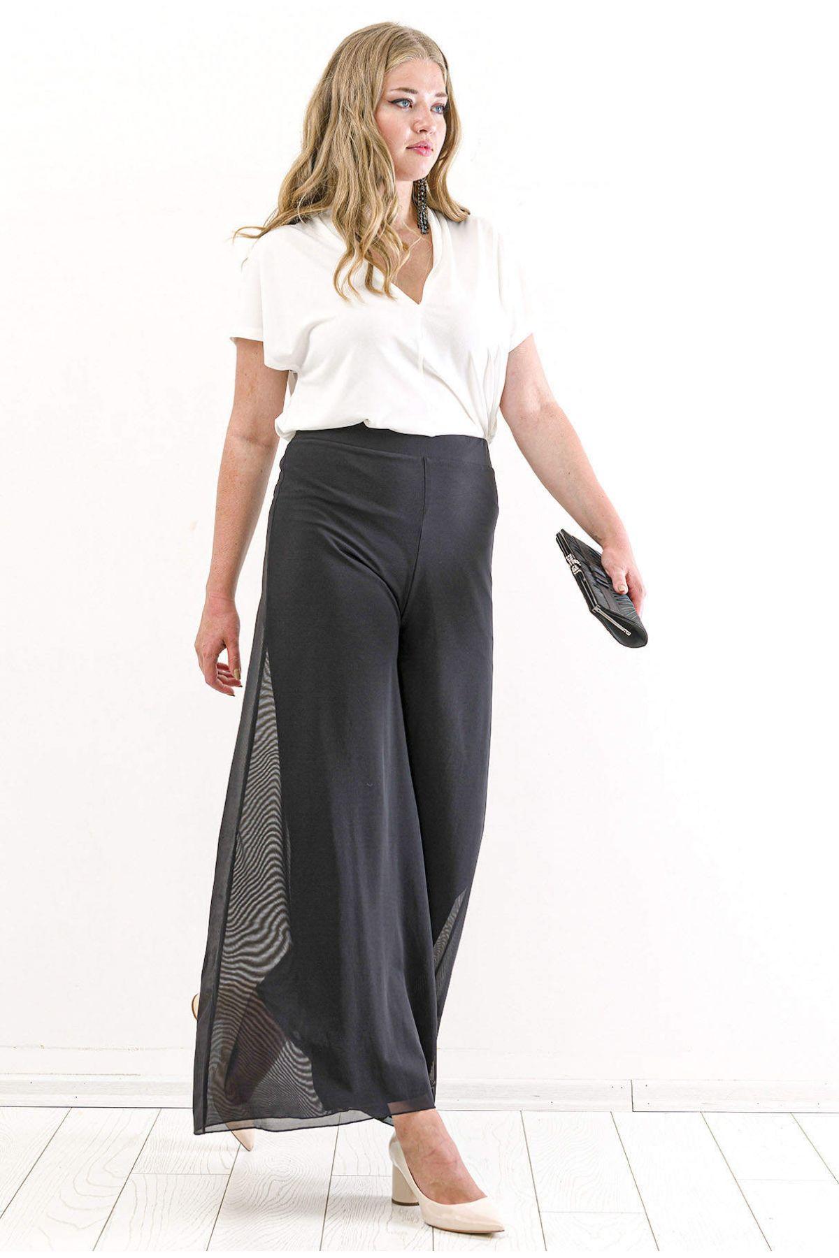 Boot Cut Pants-Black