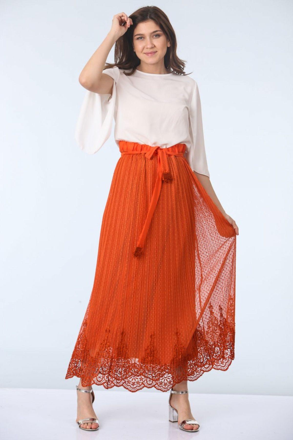 Long Skirts-Orange