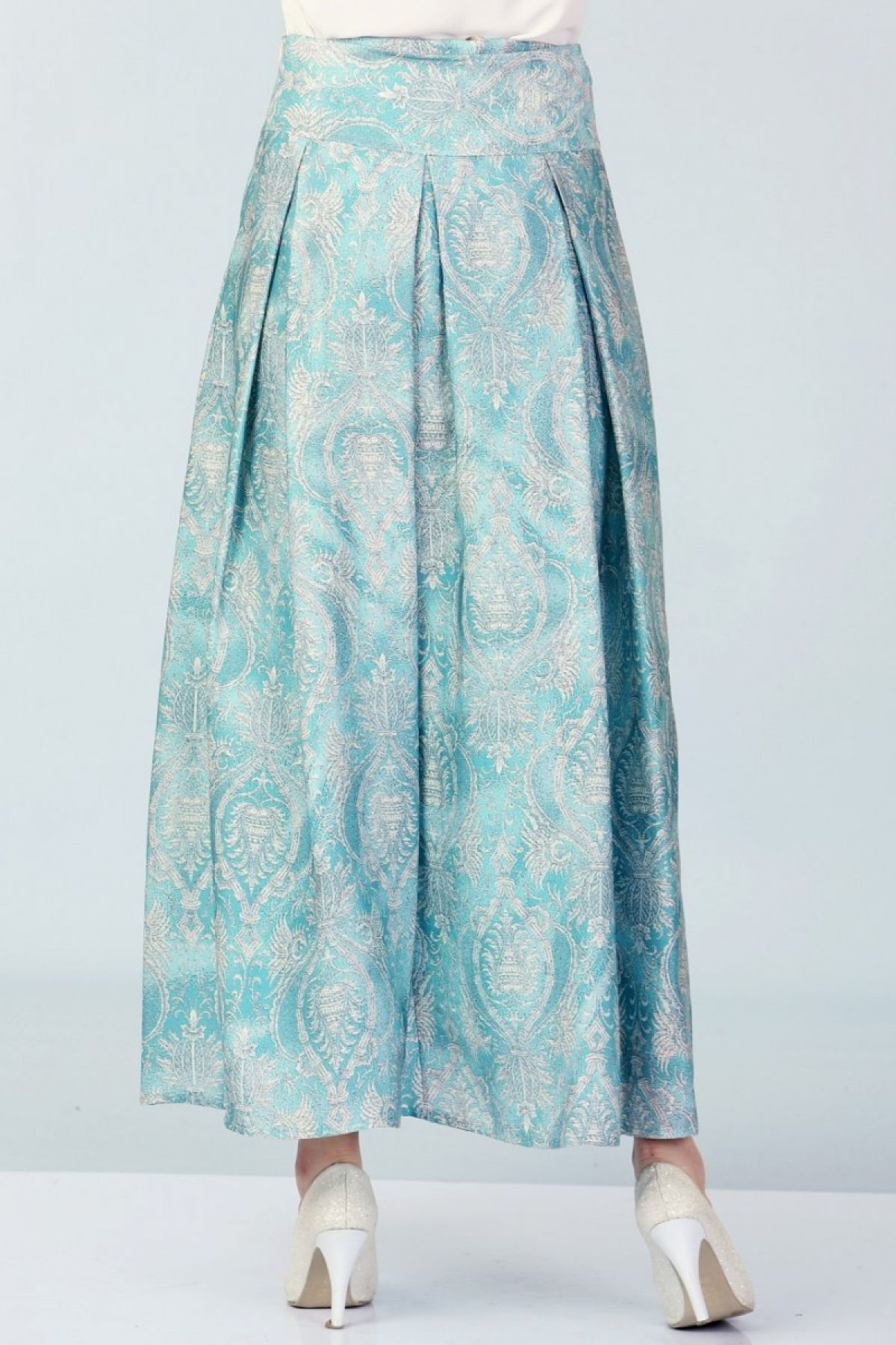 Long Skirts-Turquoise
