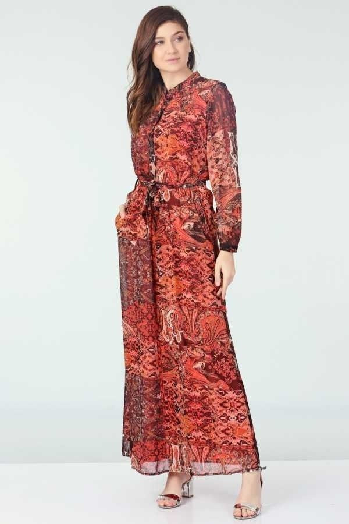 Day Dresses Long-Coral