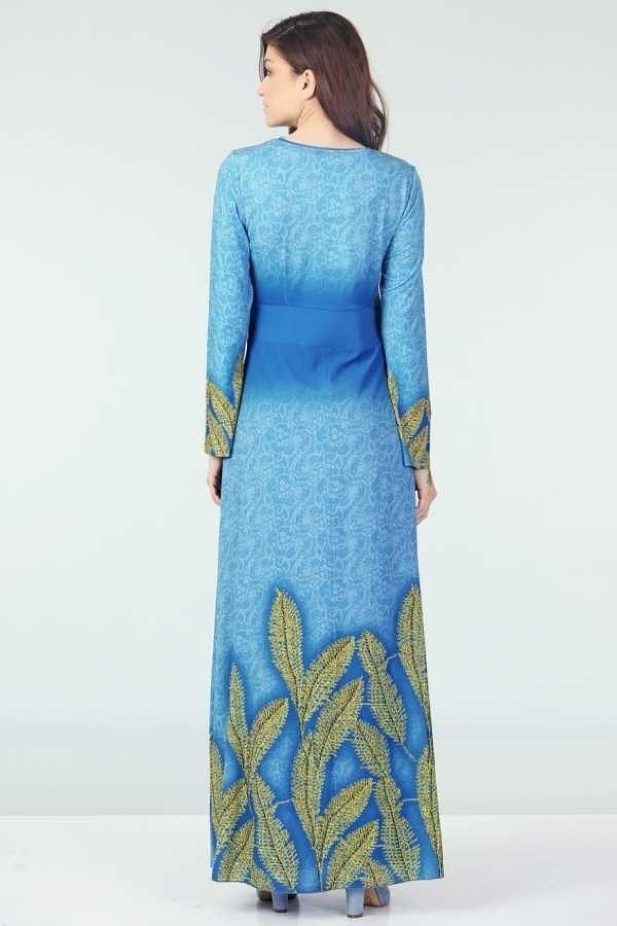Day Dresses Long-Blue