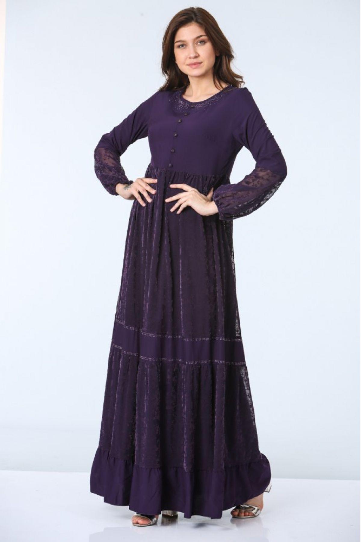 Day Dresses Long-Purple