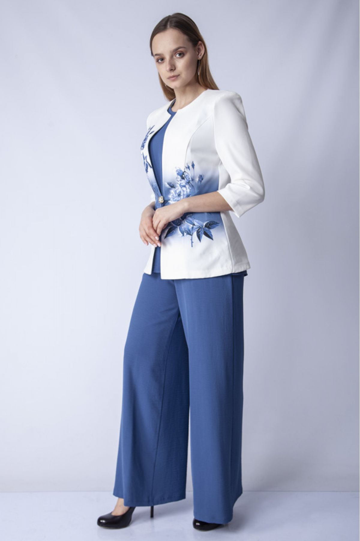 Two-Piece Suit-Bright Blue