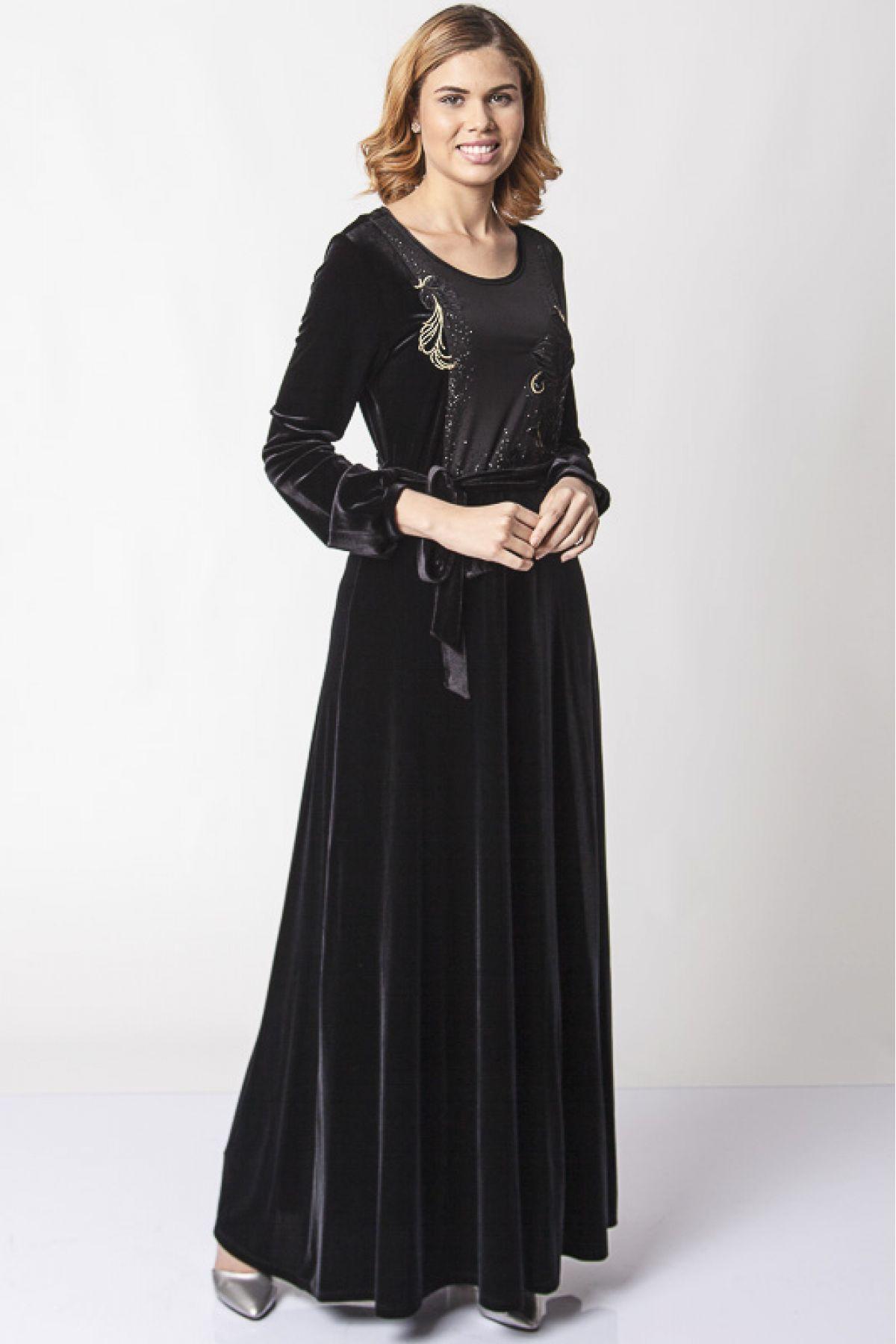 Evening Dress-Dark Brown