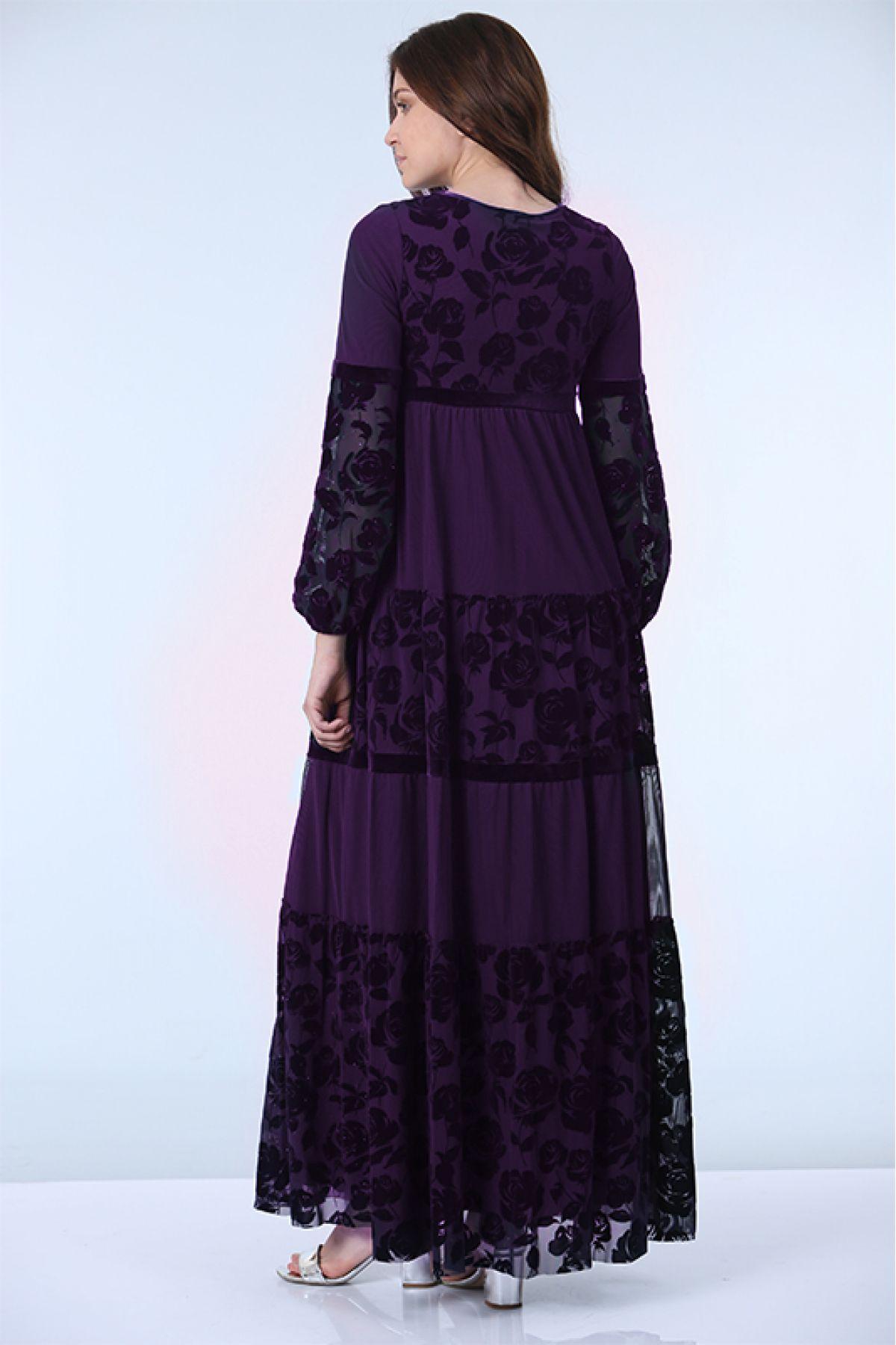 Evening Dress-Purple