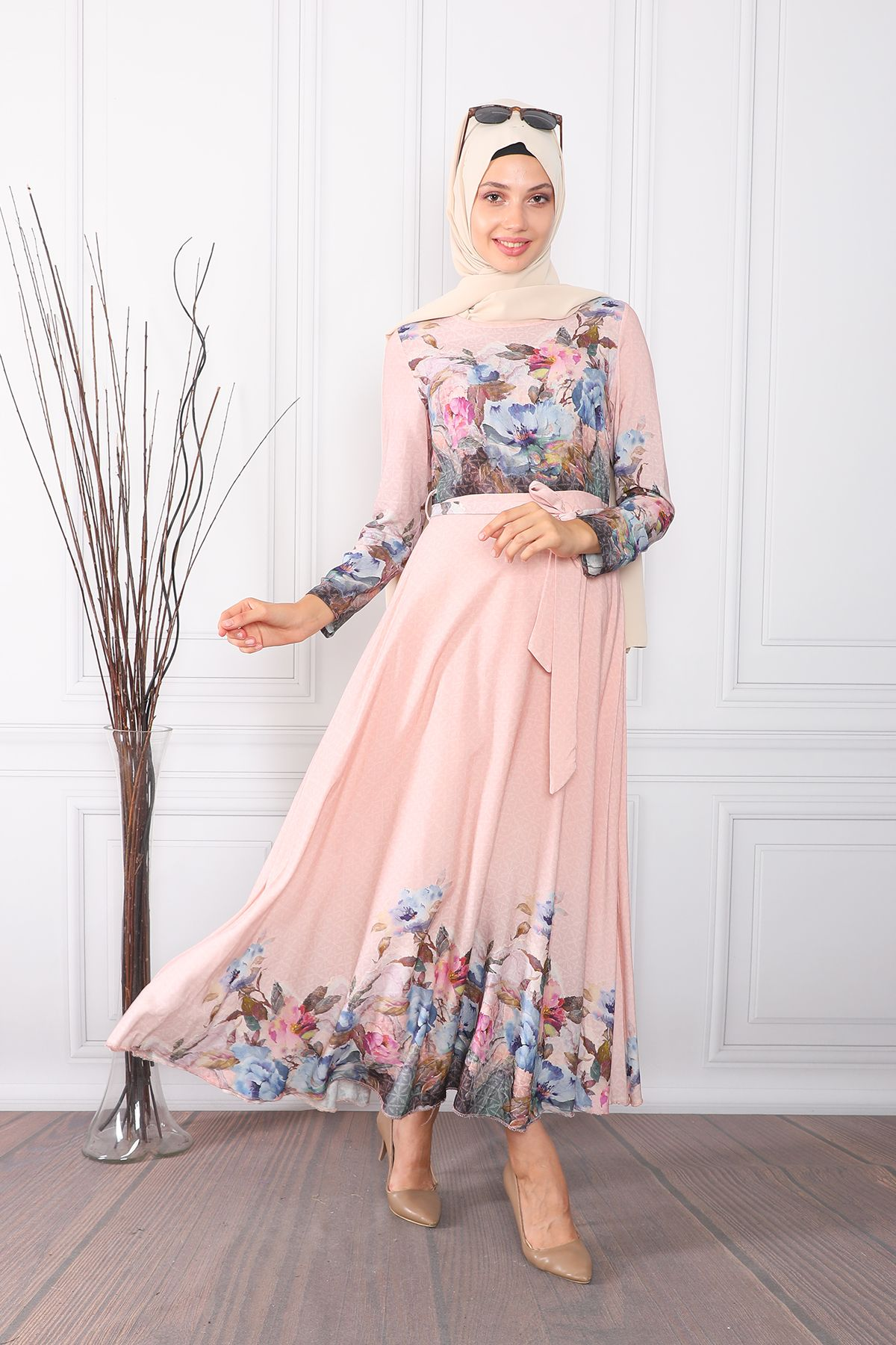 Evening Dress-powder pink