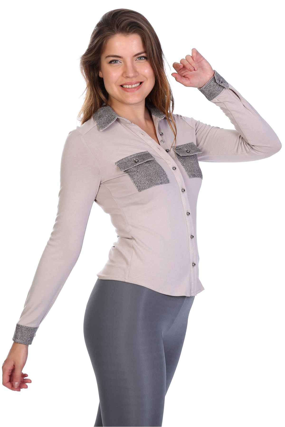 Blouses-Light Grey