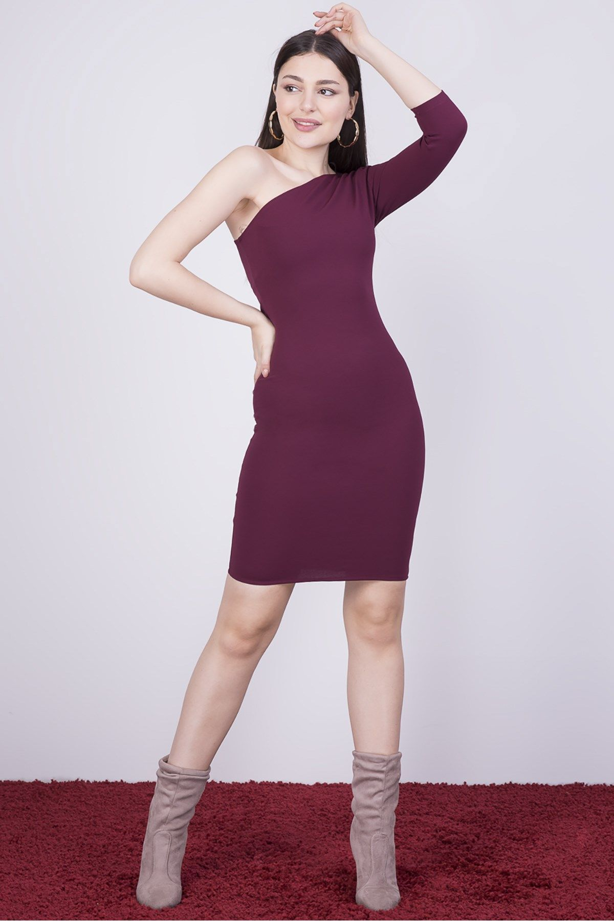 Casual Dresses-Purple