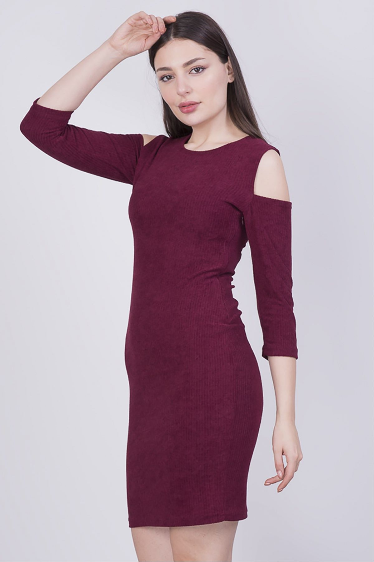 Casual Dresses-Claret Red