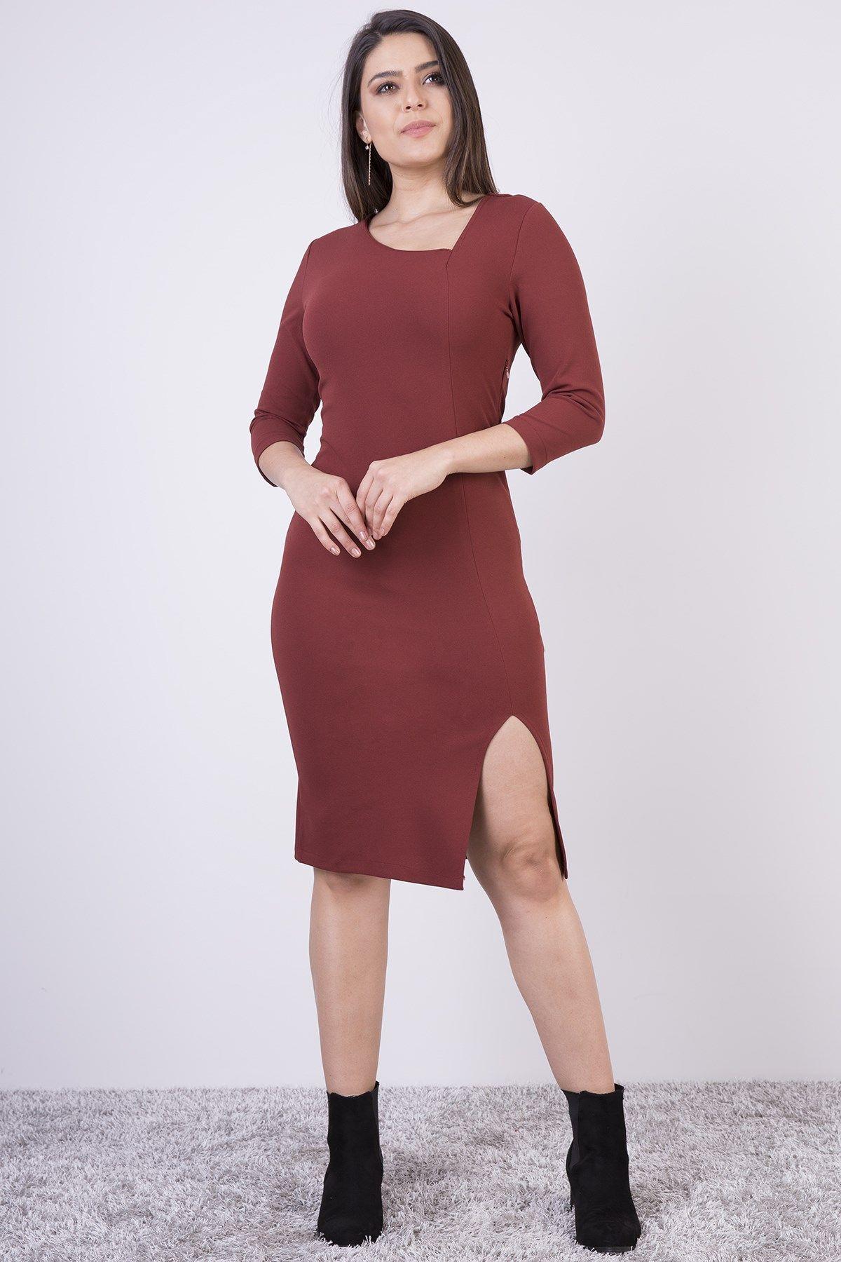 Casual Dresses-Claret Red