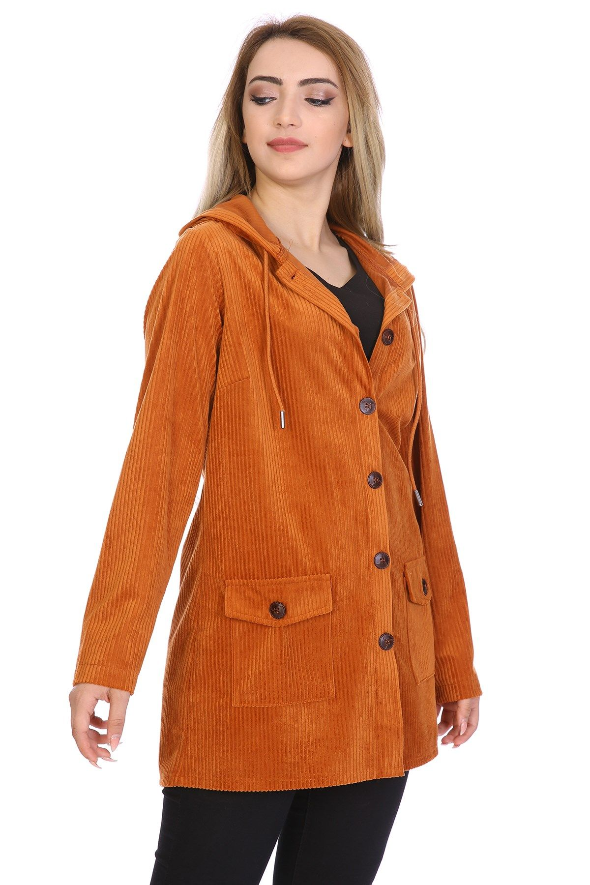 Leather & Suede Coats-Mustard