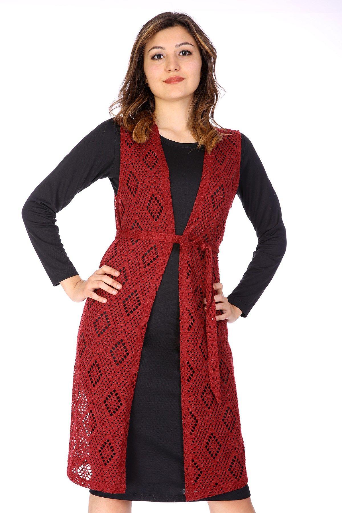 Vests-Claret Red