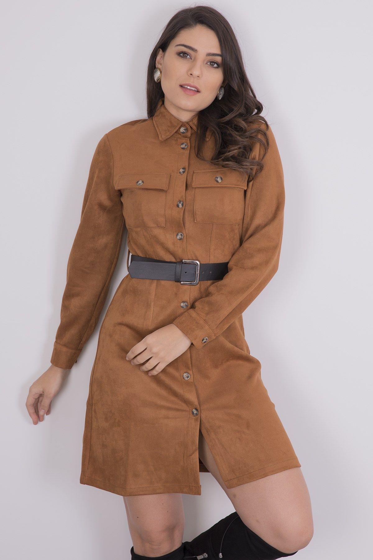 Casual Dresses-Brown