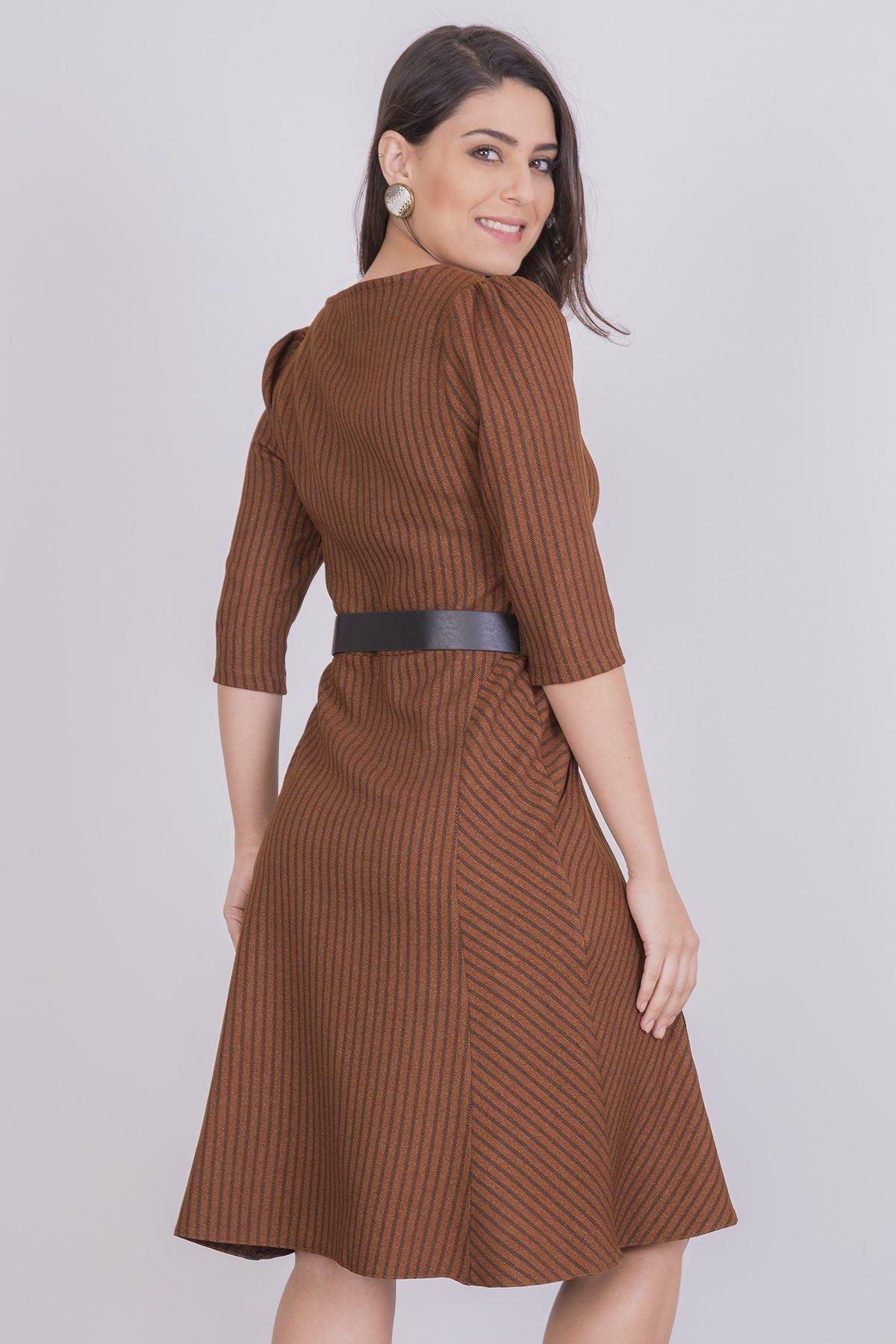 Casual Dresses-Light Brown