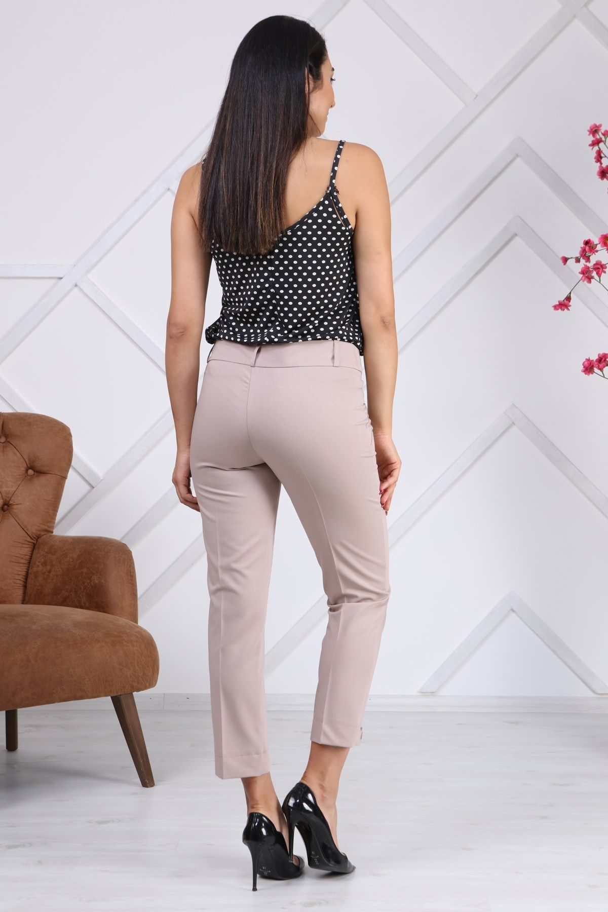 women pants-Stone