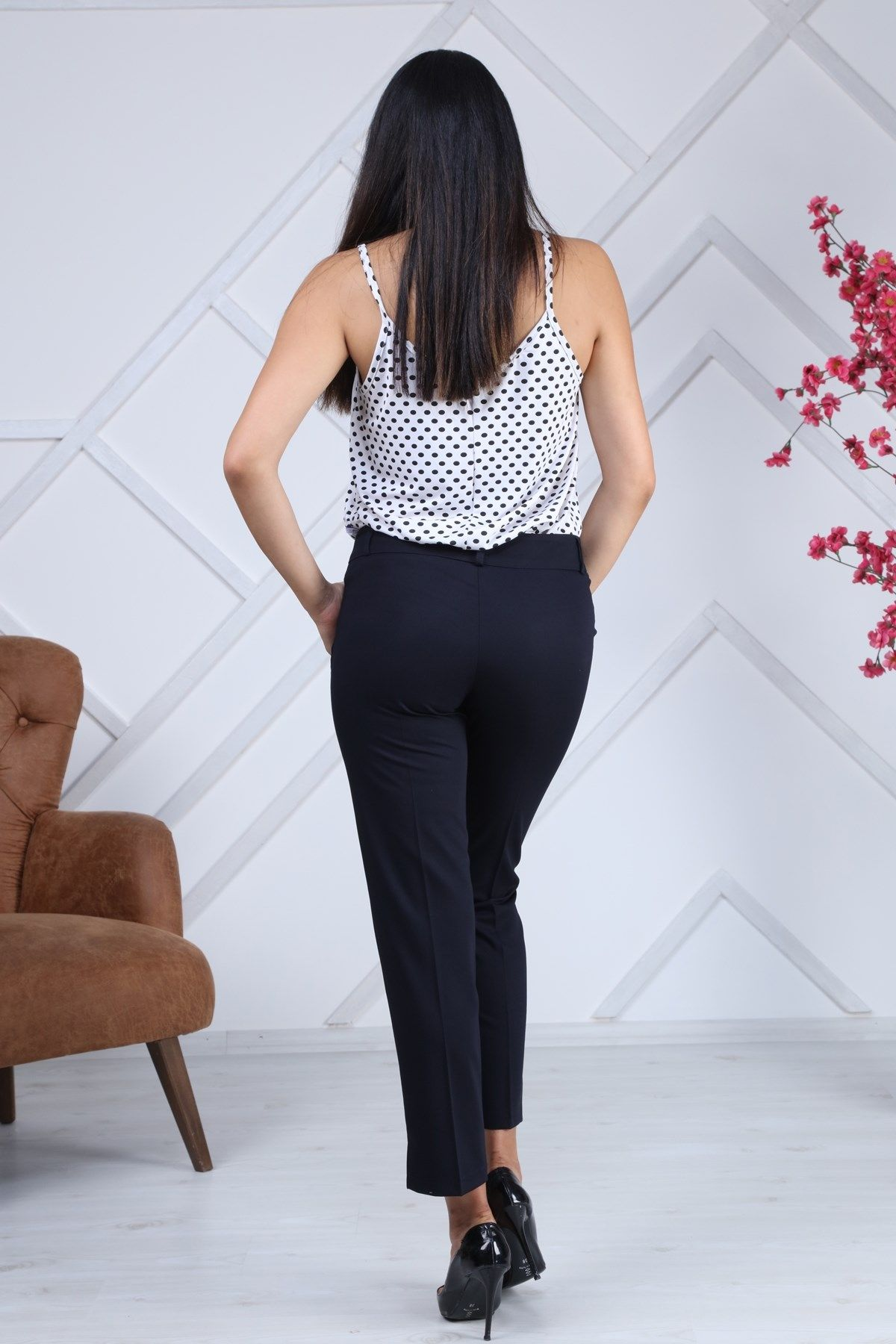 women pants-Dark Blue