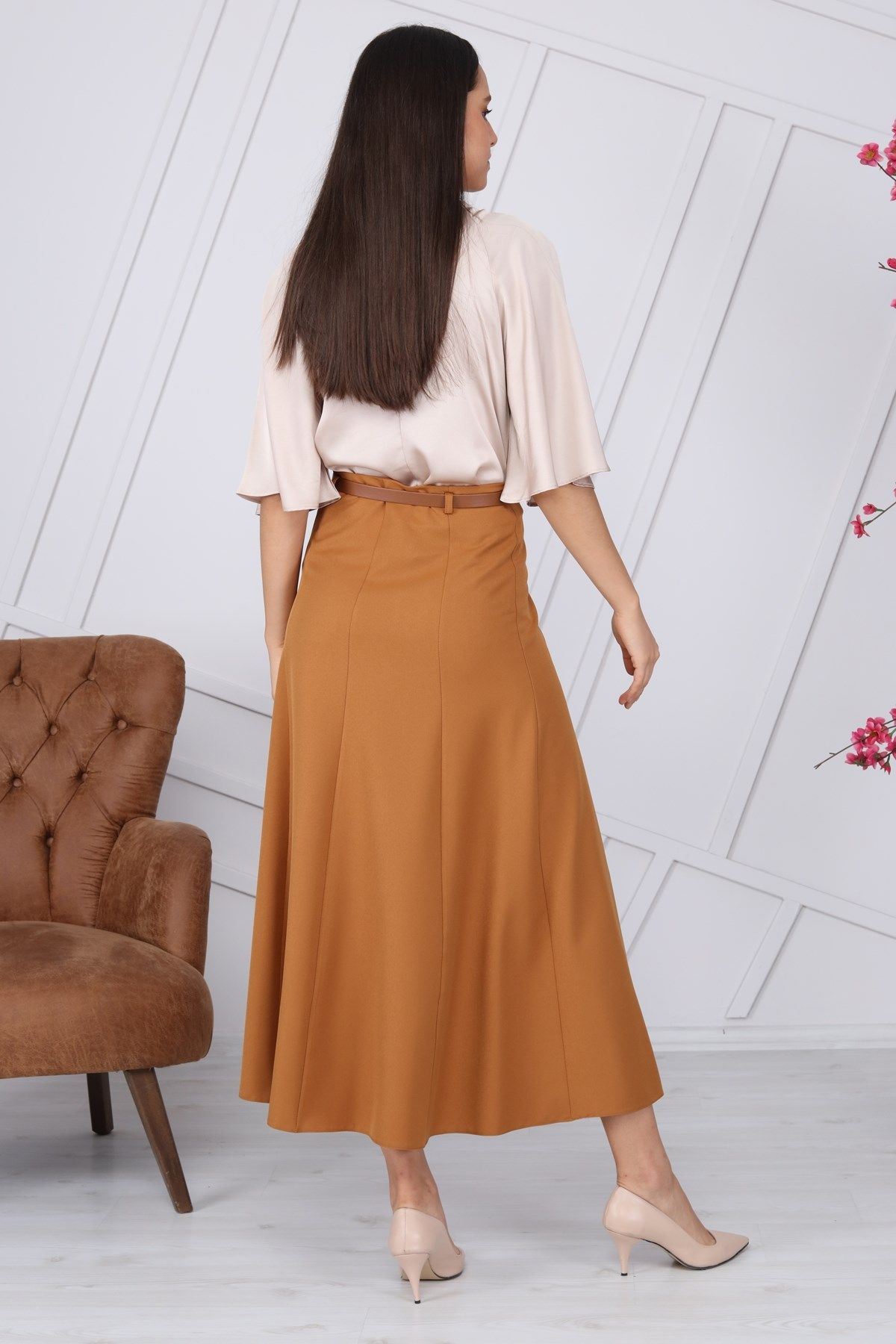 Long Skirts-Light Brown