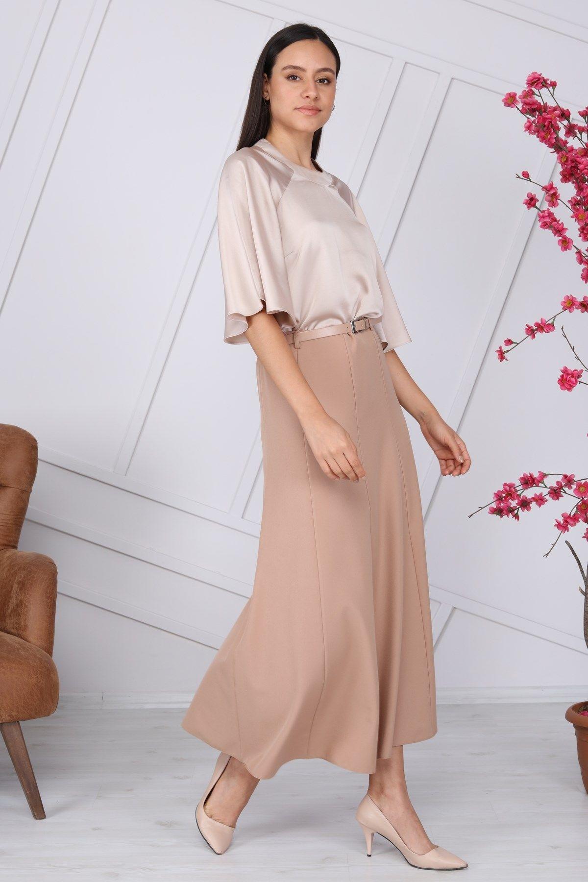 Long Skirts-Beige